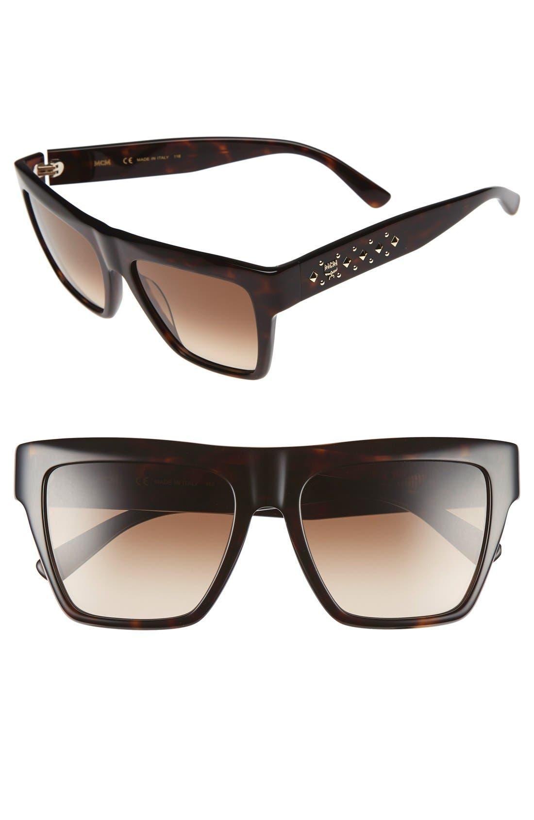55mm Studded Navigator Sunglasses,                             Main thumbnail 2, color,