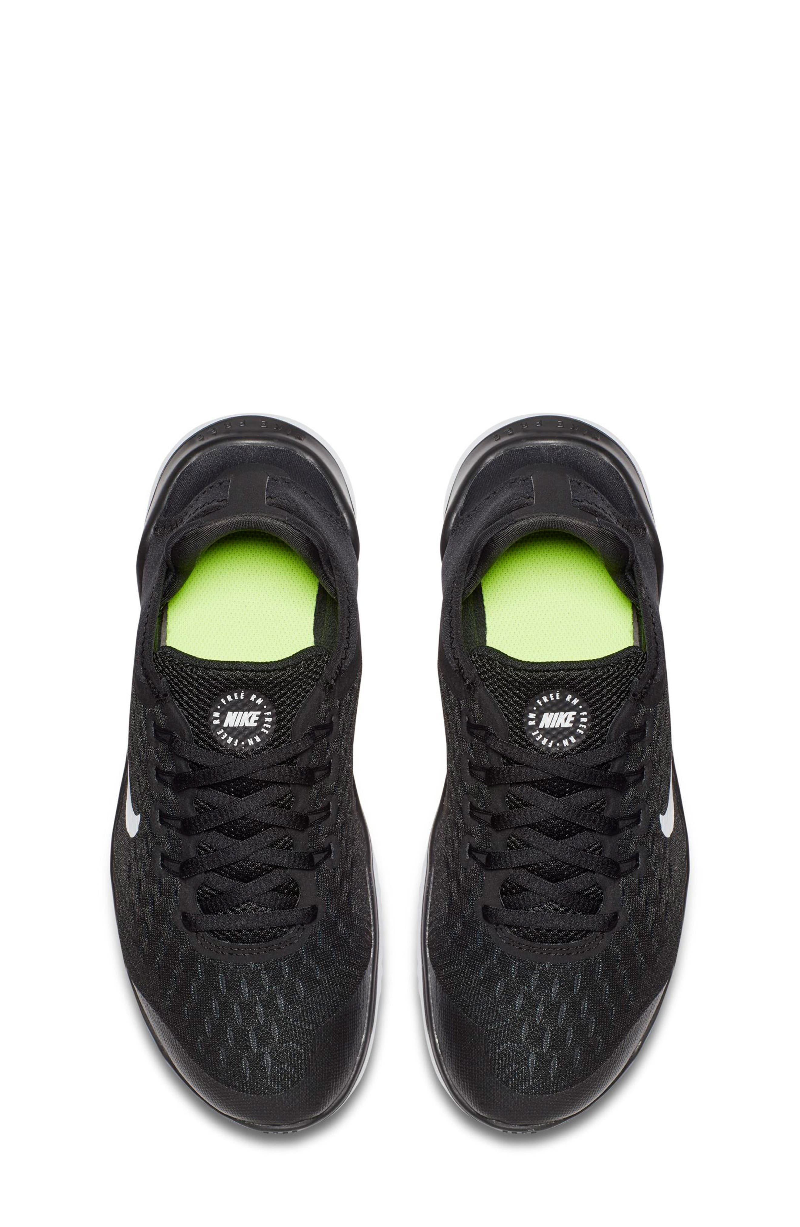 Free RN 2018 Running Shoe,                             Alternate thumbnail 4, color,                             BLACK/ WHITE