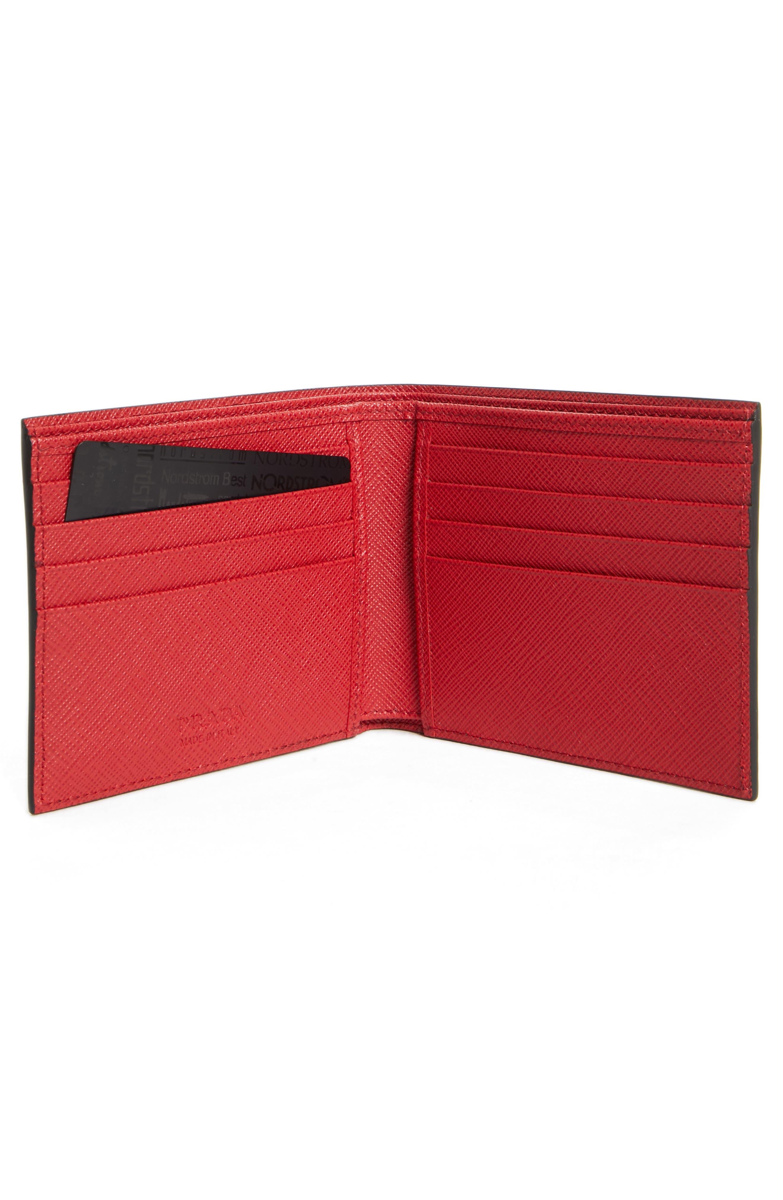 Bicolor Leather Wallet,                             Alternate thumbnail 2, color,                             001