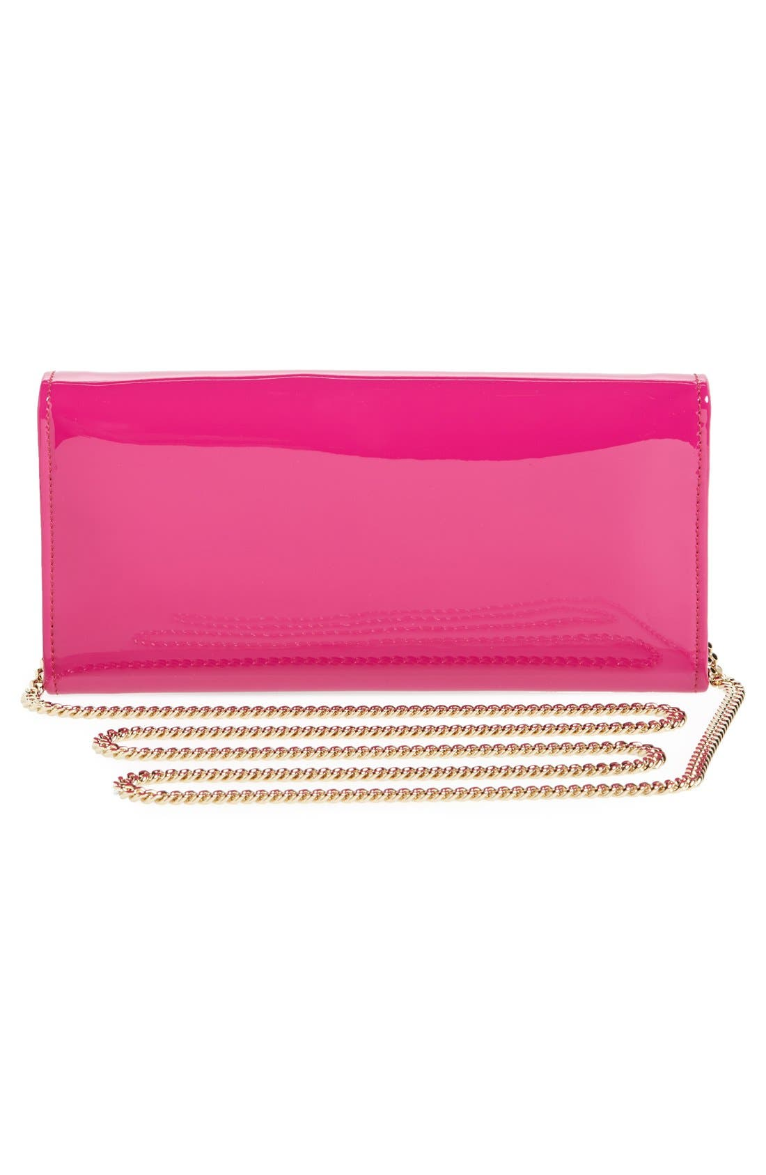 'Milla' Patent Leather Wallet on a Chain,                             Alternate thumbnail 38, color,