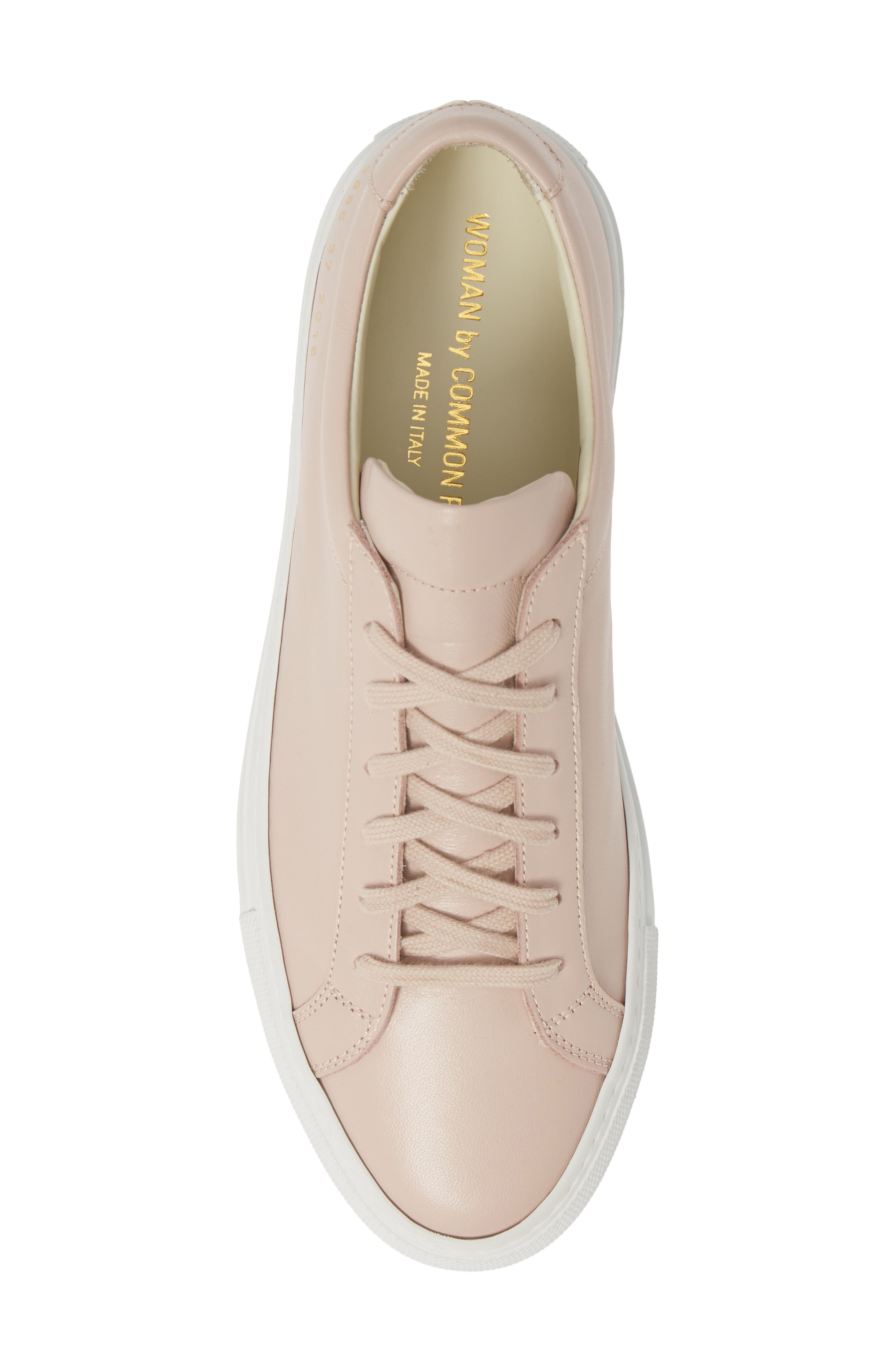 COMMON PROJECTS,                             Original Achilles Sneaker,                             Alternate thumbnail 5, color,                             BLUSH
