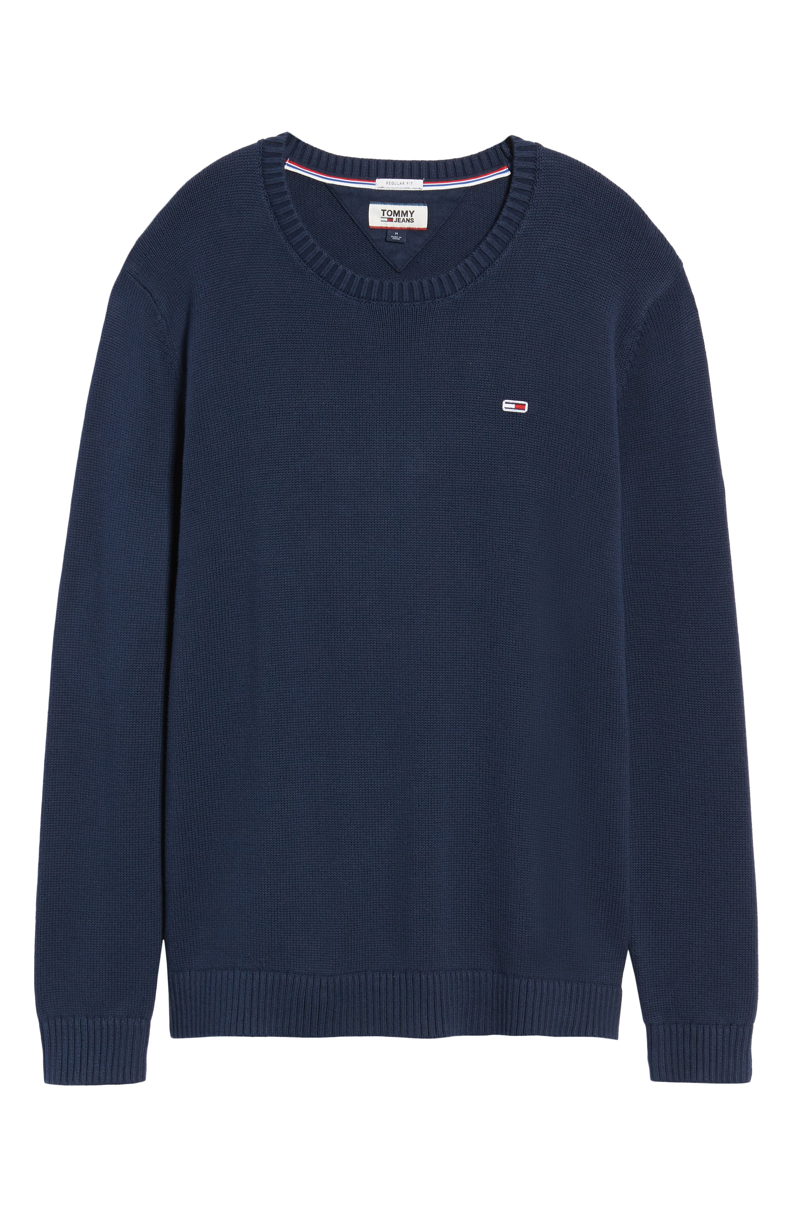 TJM Tommy Classics Sweater,                             Alternate thumbnail 6, color,                             BLACK IRIS
