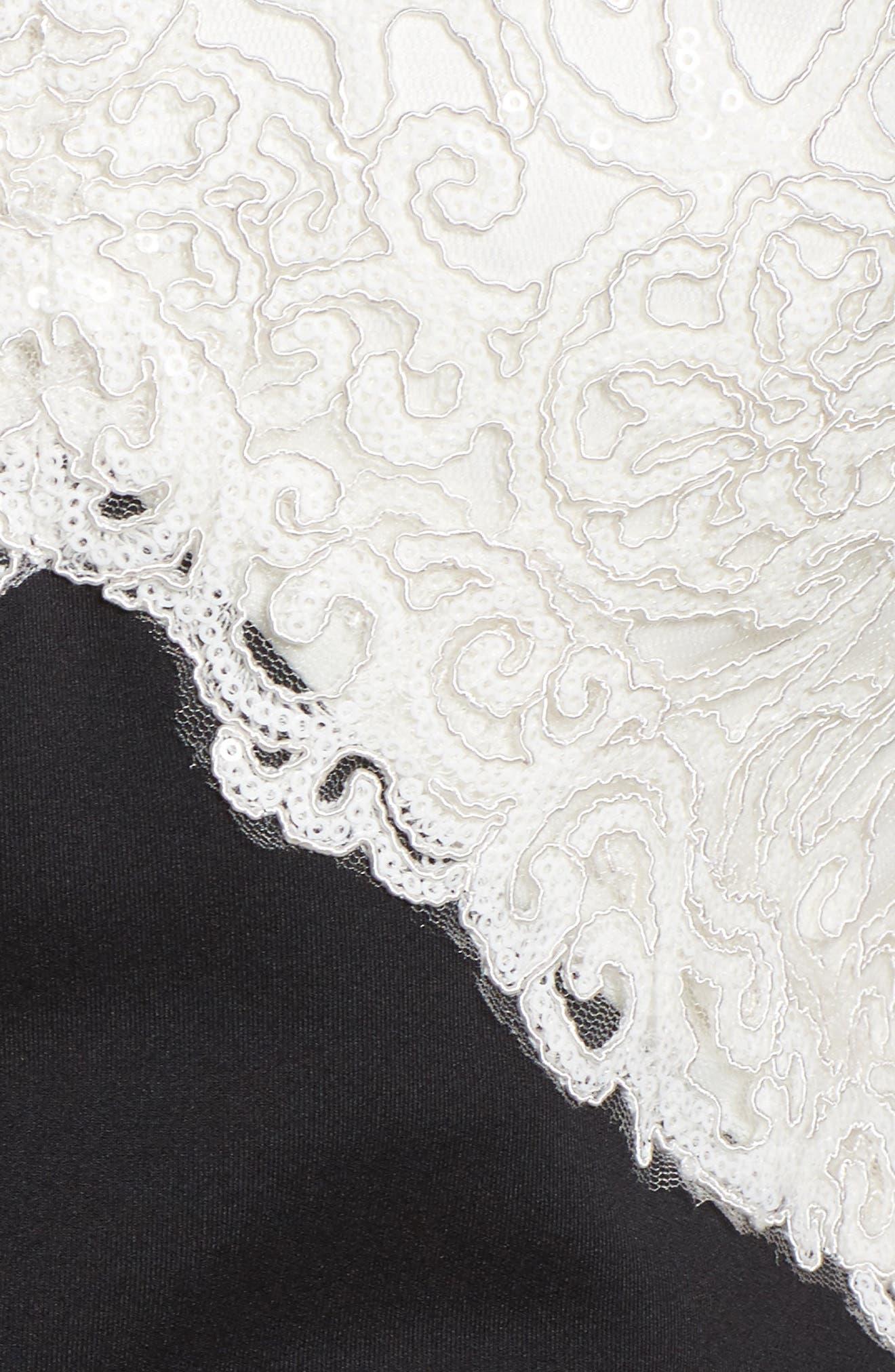 Soutache Off the Shoulder Sheath Dress,                             Alternate thumbnail 5, color,                             010