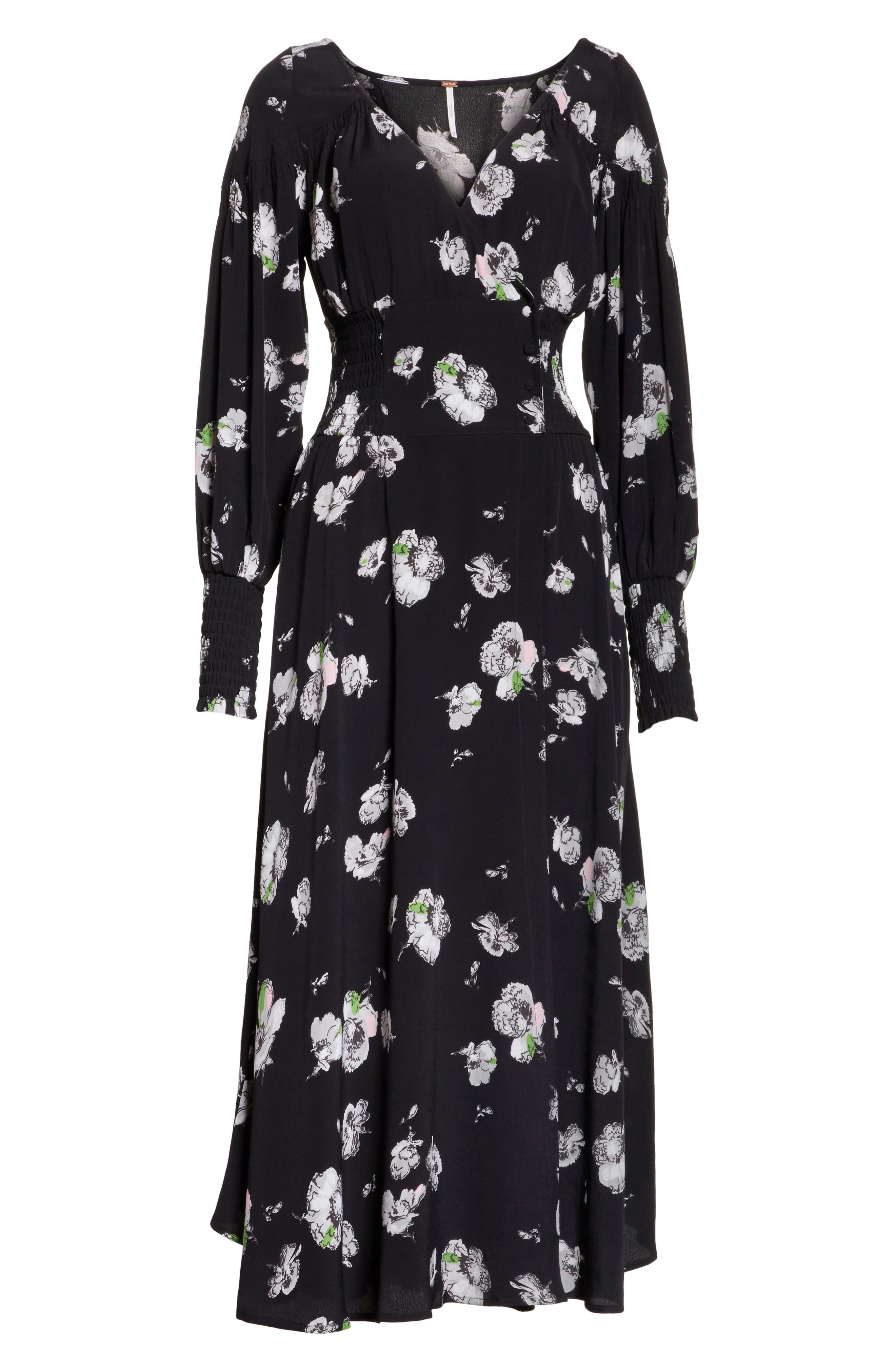 So Sweetly Midi Dress,                             Alternate thumbnail 6, color,                             001