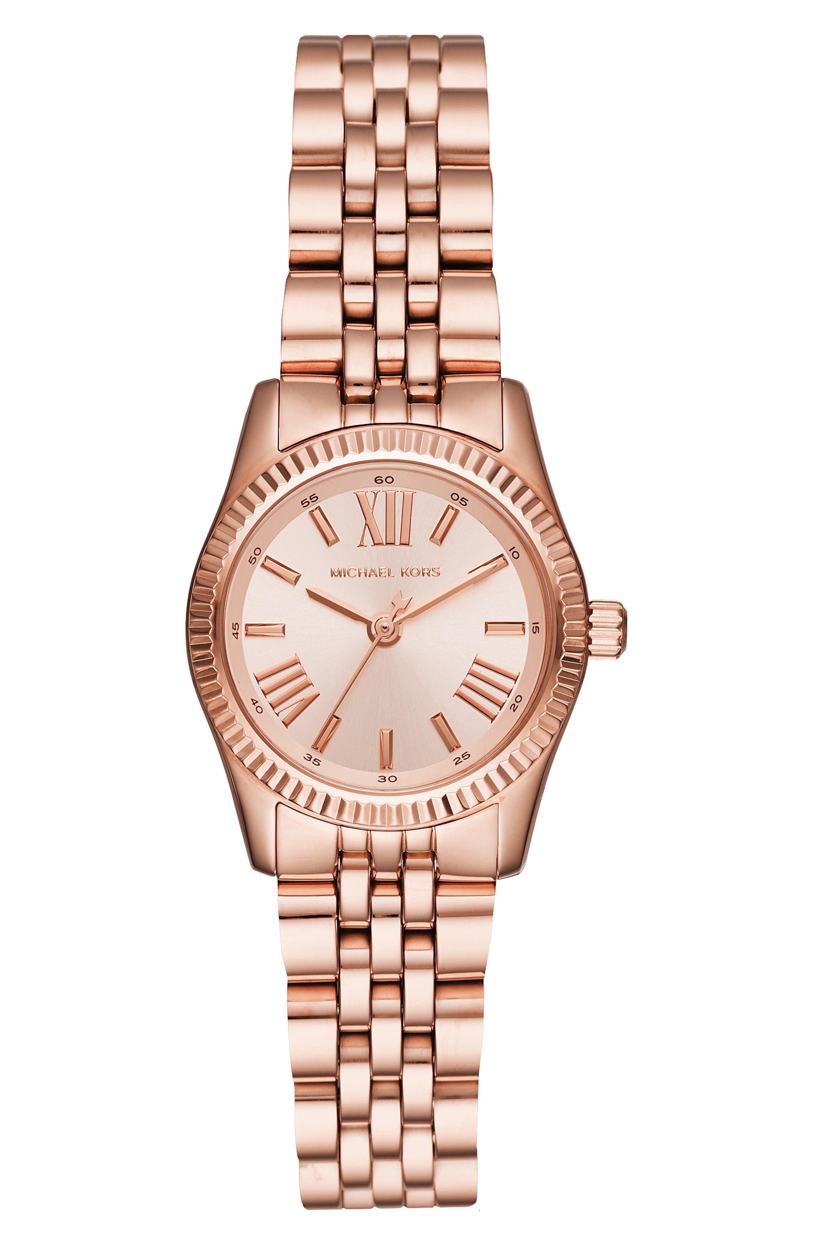 Lexington Bracelet Watch, 26mm,                             Main thumbnail 1, color,                             ROSE GOLD