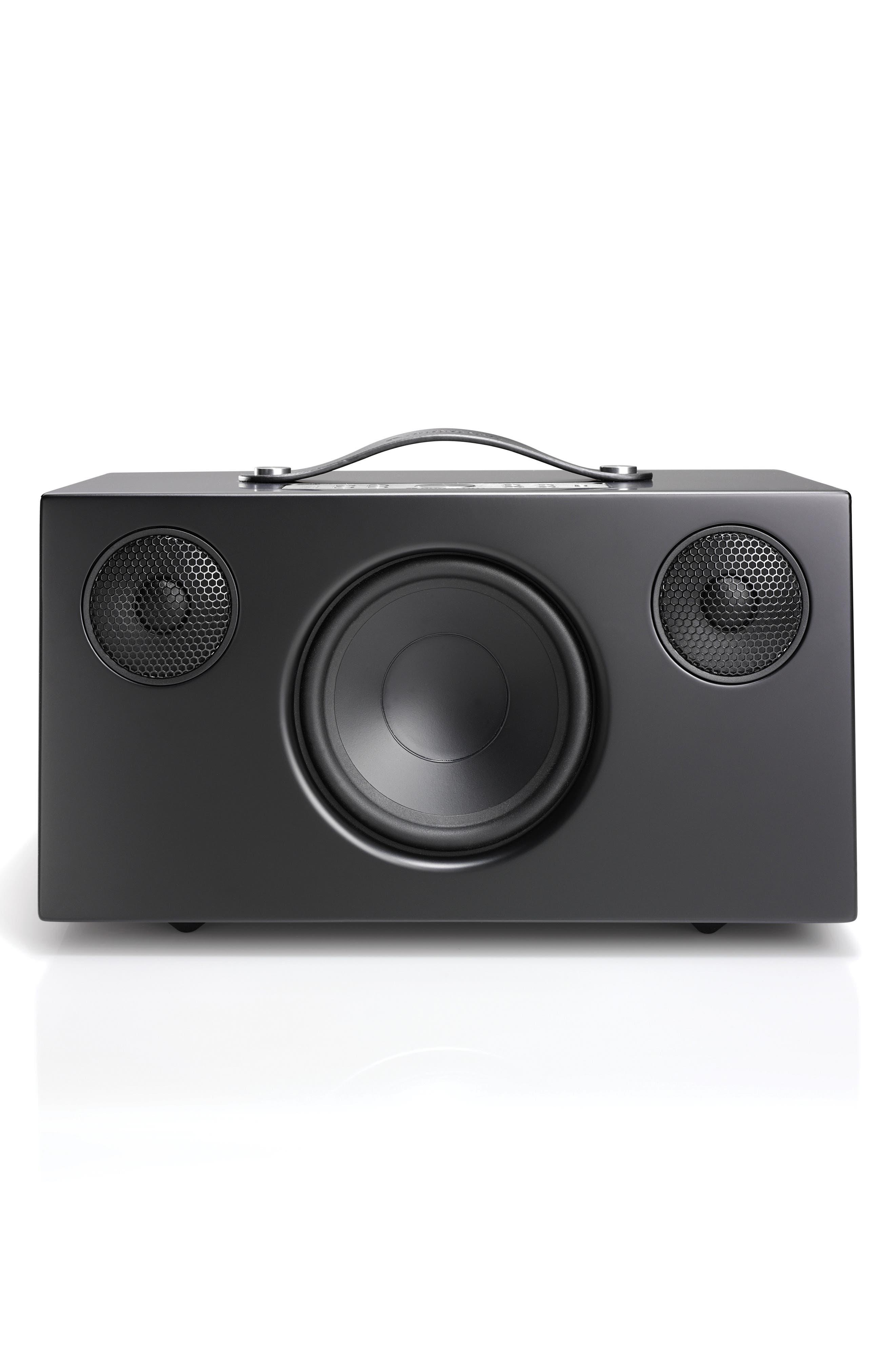 Addon C10 WiFi Multi Room Bluetooth Speaker,                             Main thumbnail 1, color,                             COAL BLACK