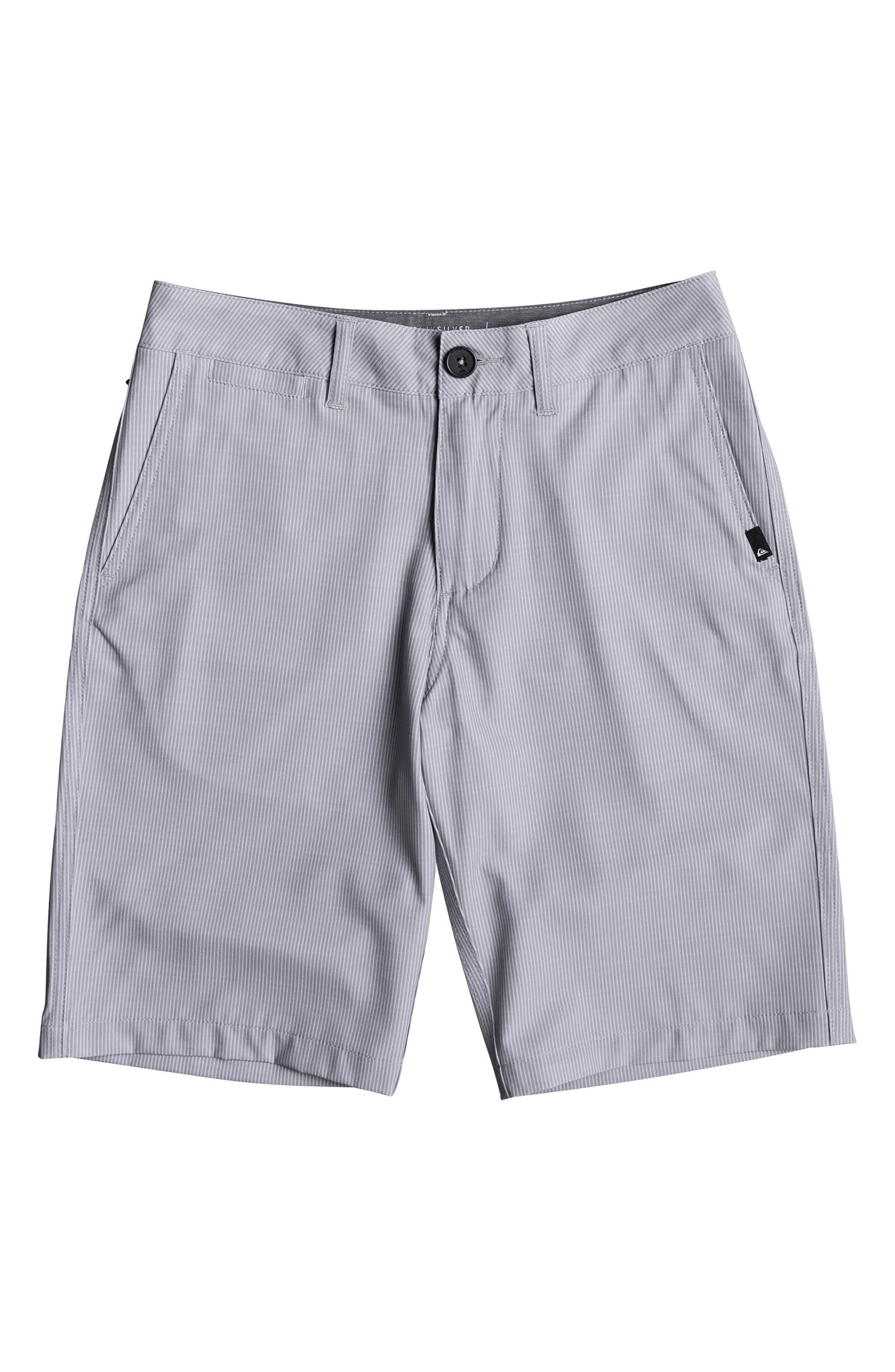 Union Pinstripe Amphibian Hybrid Shorts,                         Main,                         color, SLEET