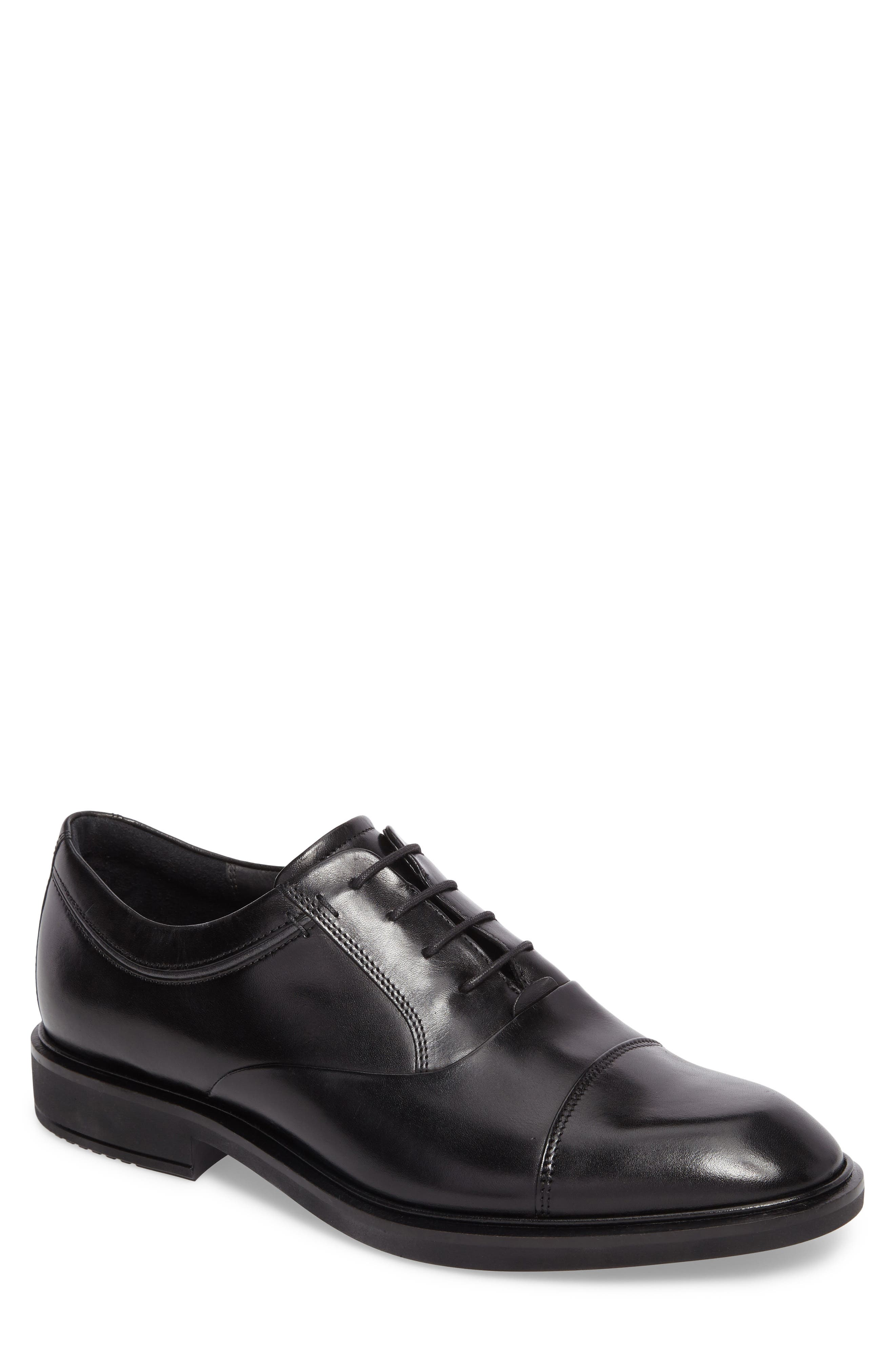 Vitrus II Cap Toe Oxford,                         Main,                         color, BLACK LEATHER