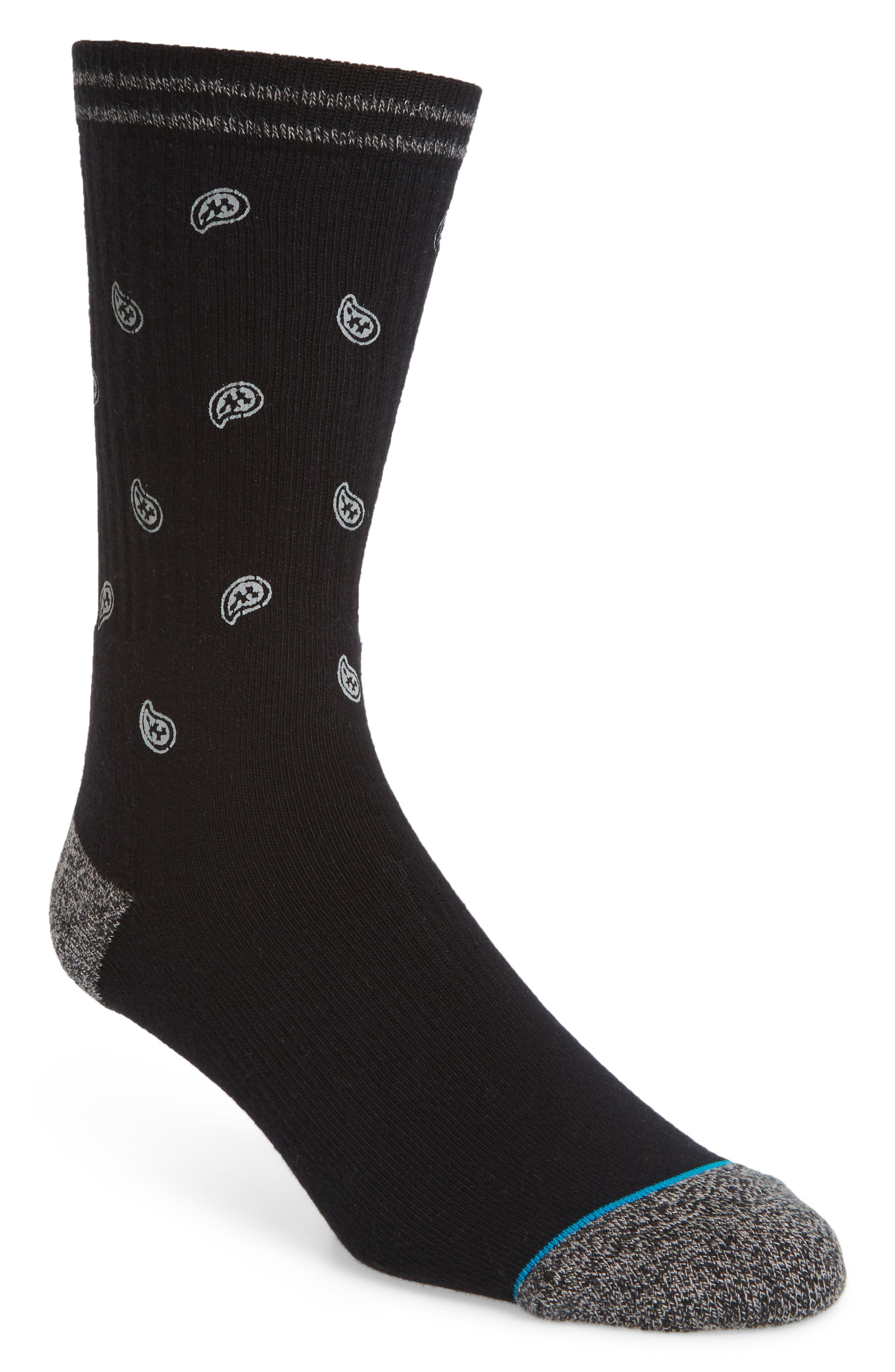 Emerge Socks,                         Main,                         color, BLACK