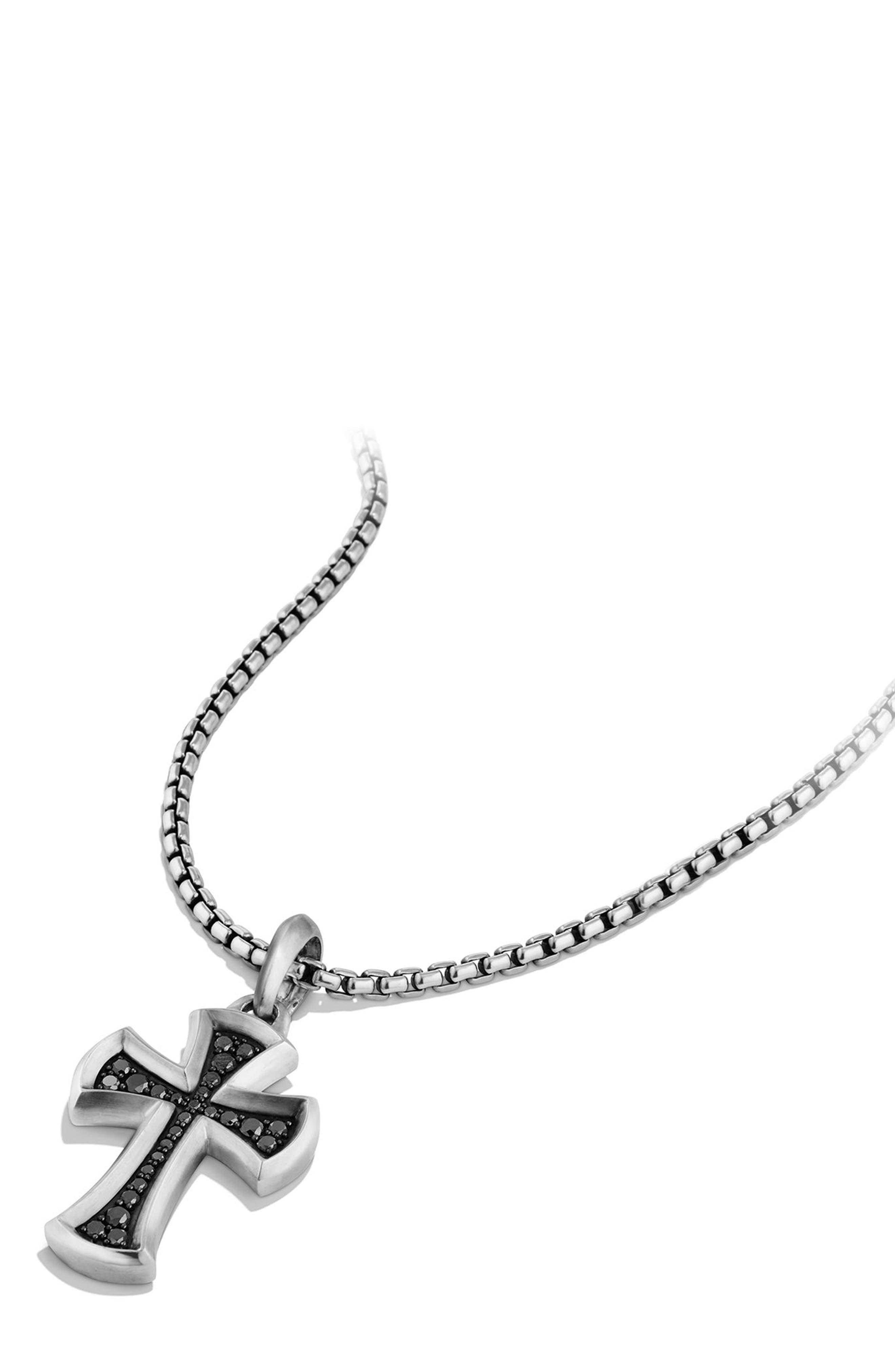 Cross Amulet with Black Diamonds,                             Alternate thumbnail 3, color,                             040
