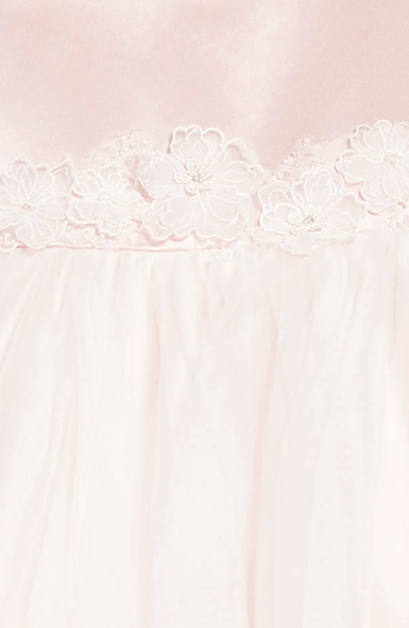 Satin & Tulle Dress,                             Alternate thumbnail 3, color,                             900