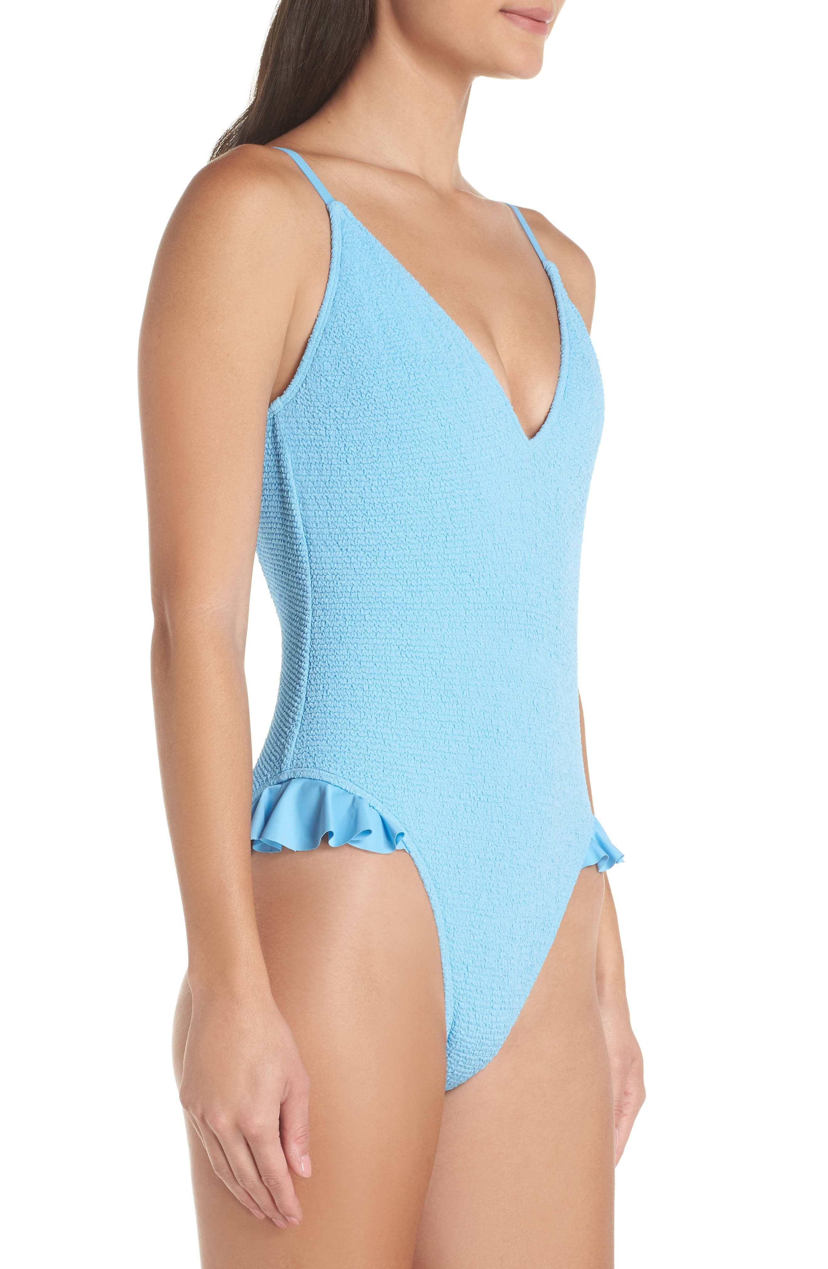 Sunkissed One-Piece Swimsuit,                             Alternate thumbnail 3, color,                             BLUE ALASKAN