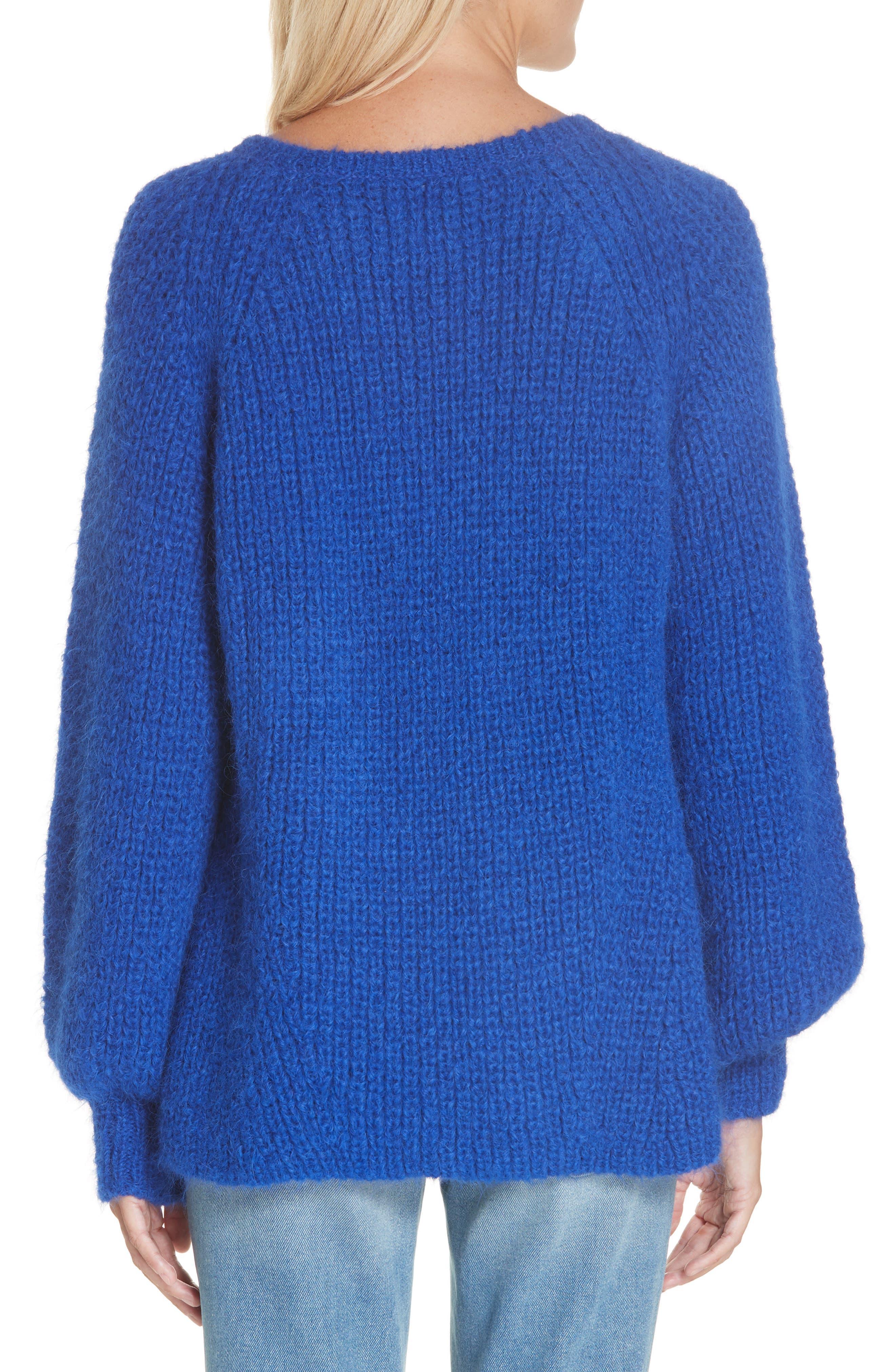 ELEVEN SIX,                             Tess Alpaca & Wool Blend Sweater,                             Alternate thumbnail 2, color,                             COLBOLT BLUE