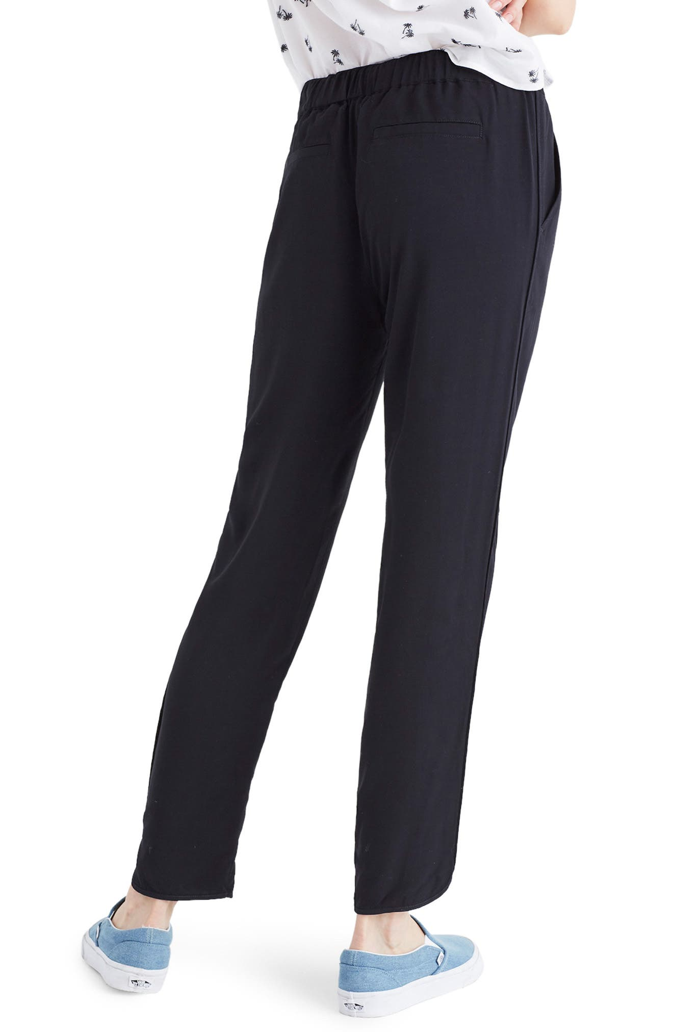 MADEWELL,                             Track Trousers,                             Alternate thumbnail 2, color,                             TRUE BLACK
