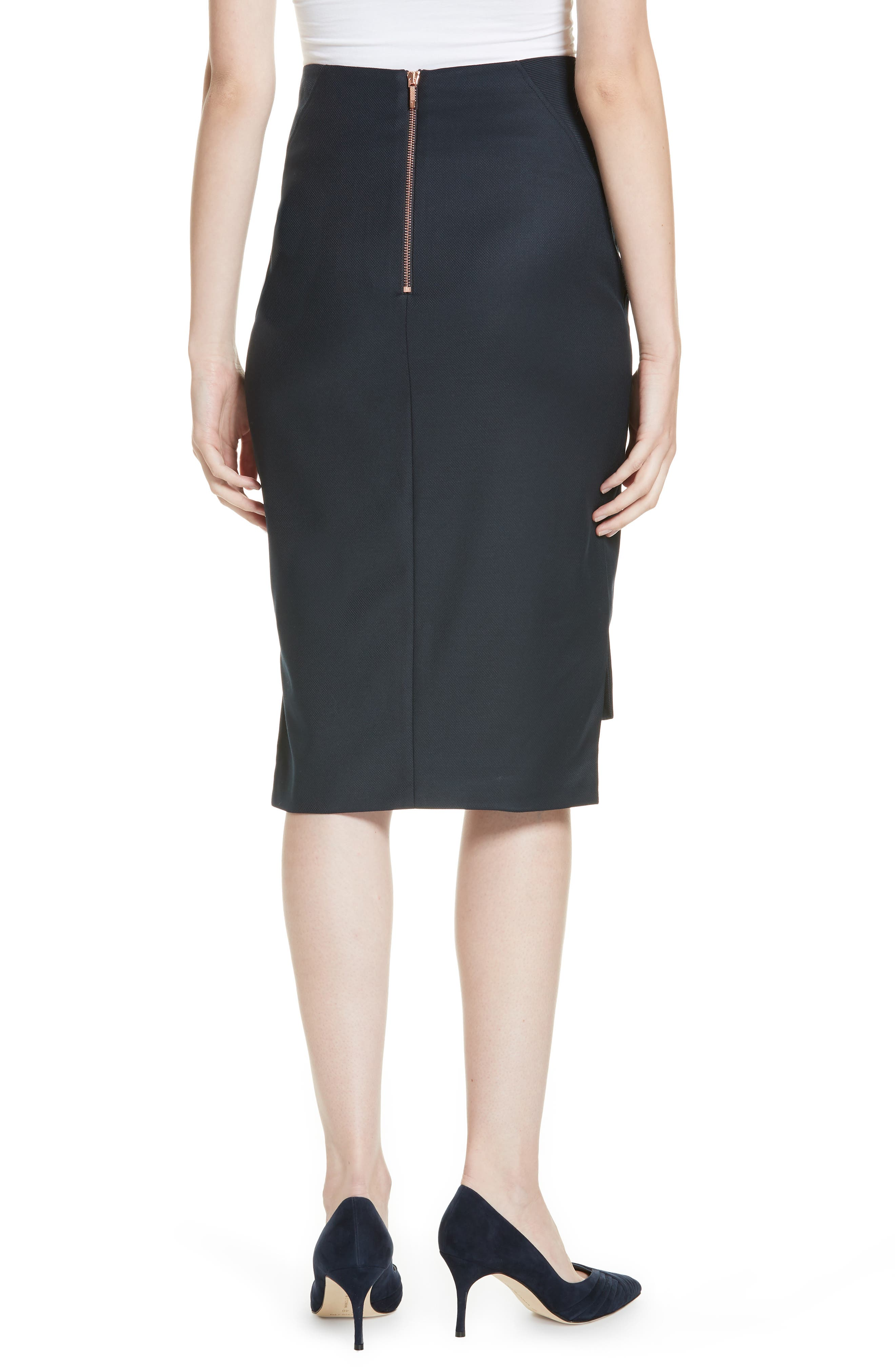 Ted Working Title Rivaas Pencil Skirt,                             Alternate thumbnail 2, color,                             DARK BLUE