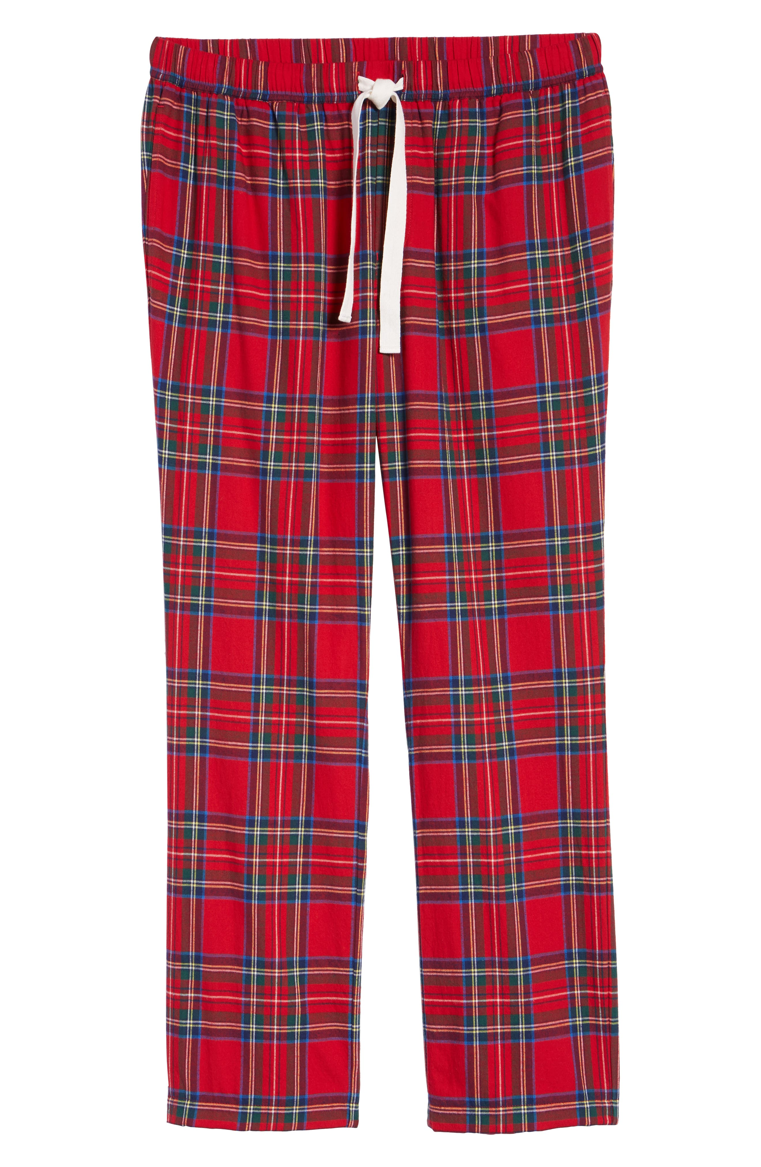 Jolly Plaid Cotton Flannel Pajama Pants,                             Alternate thumbnail 6, color,                             786