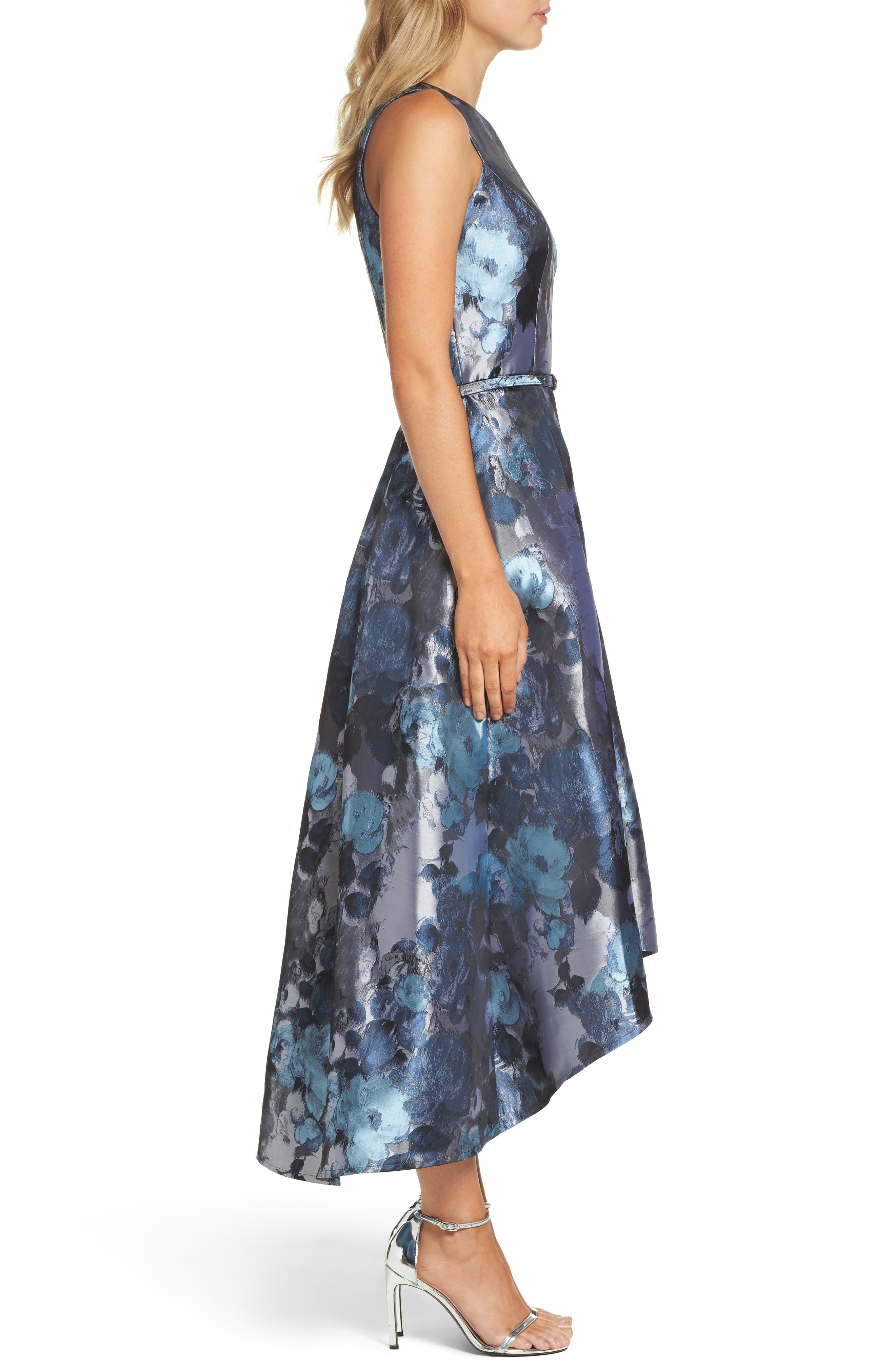 Jacquard High/Low Dress,                             Alternate thumbnail 3, color,                             419