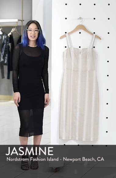 Peekabo Stripe Midi Dress, sales video thumbnail