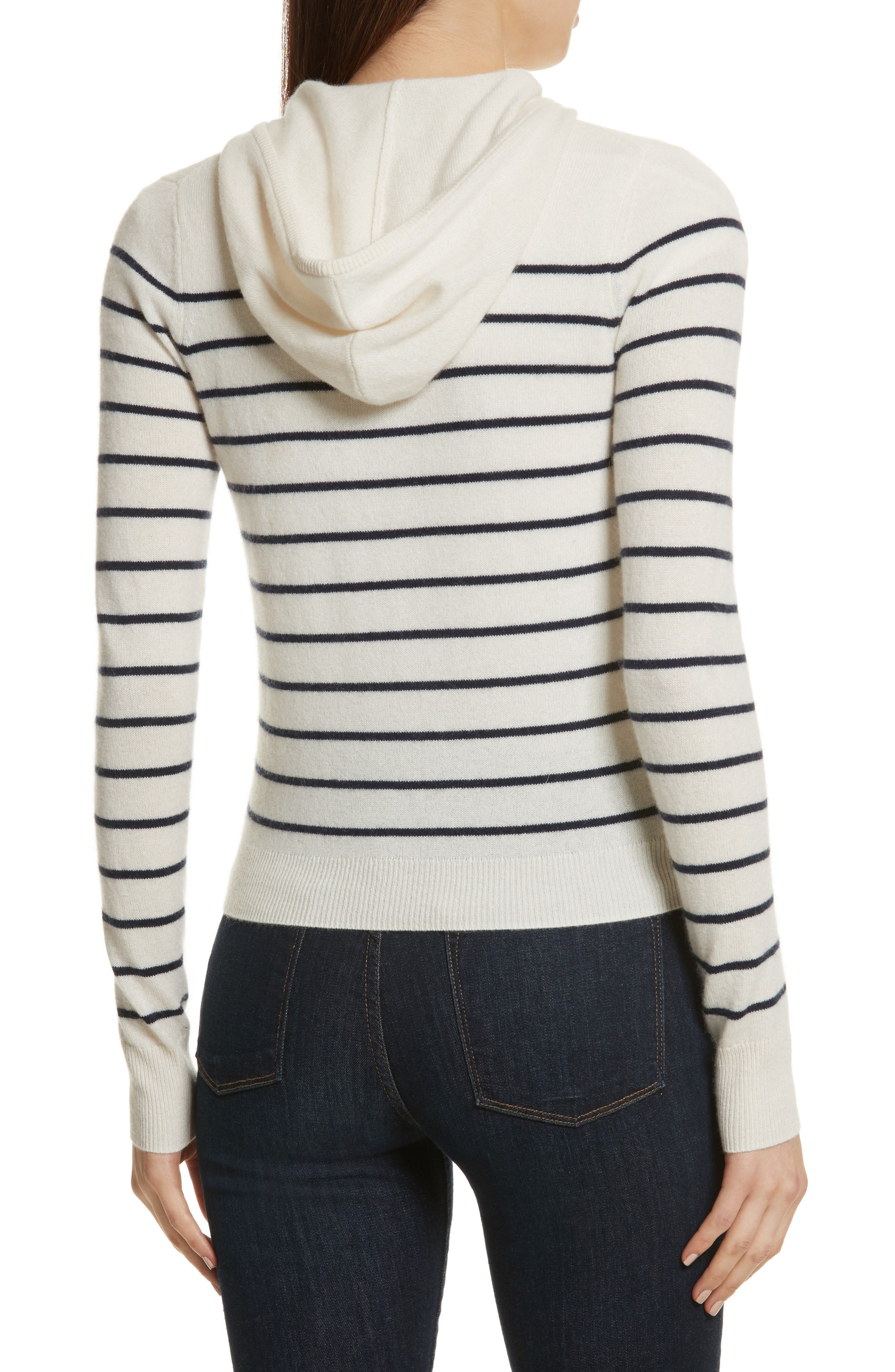 The Drake Stripe Cashmere Hoodie Sweater,                             Alternate thumbnail 2, color,