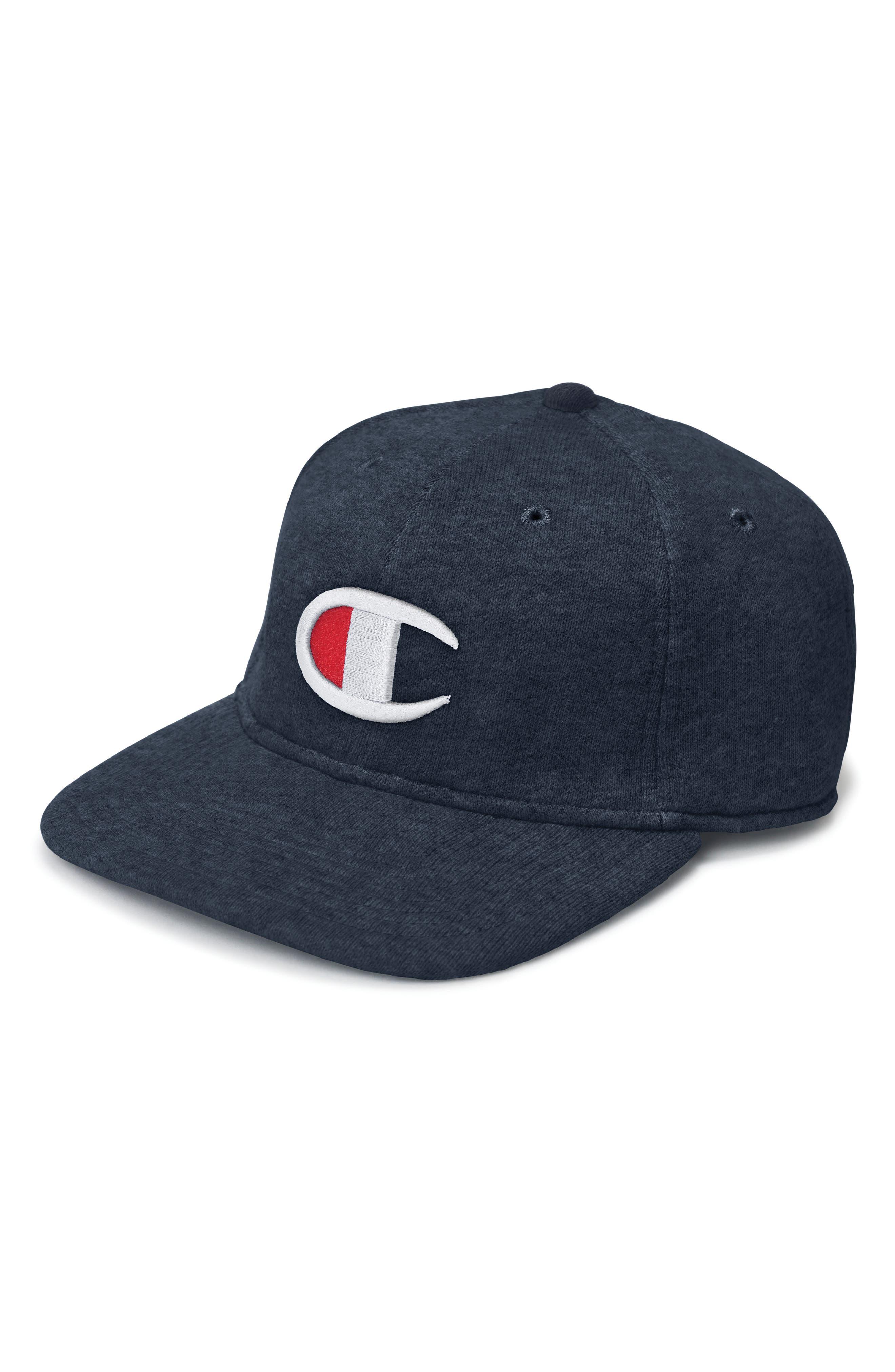 Reverse Weave Baseball Cap,                         Main,                         color, NAVY