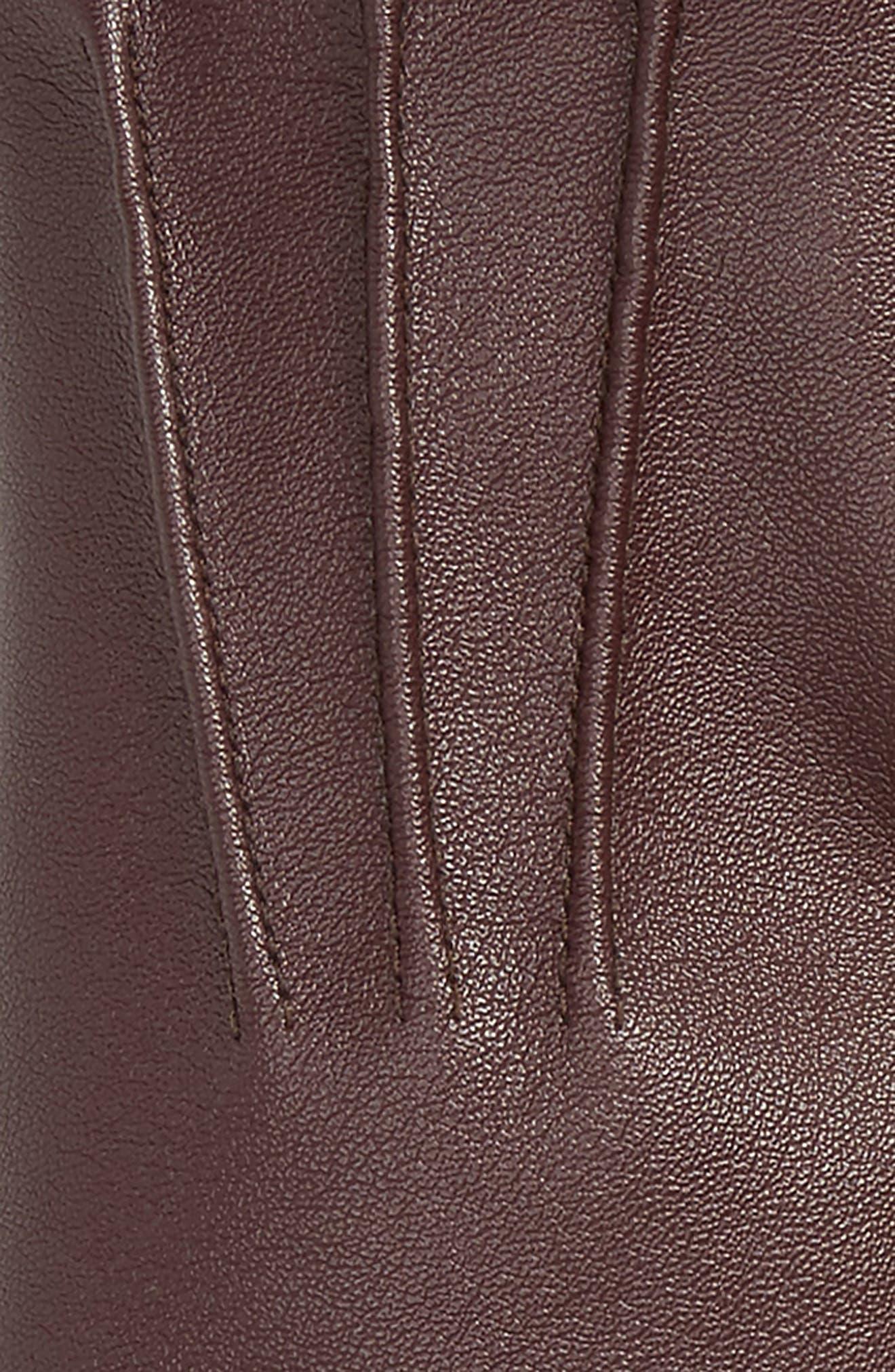 Faux Leather Gloves,                             Alternate thumbnail 8, color,