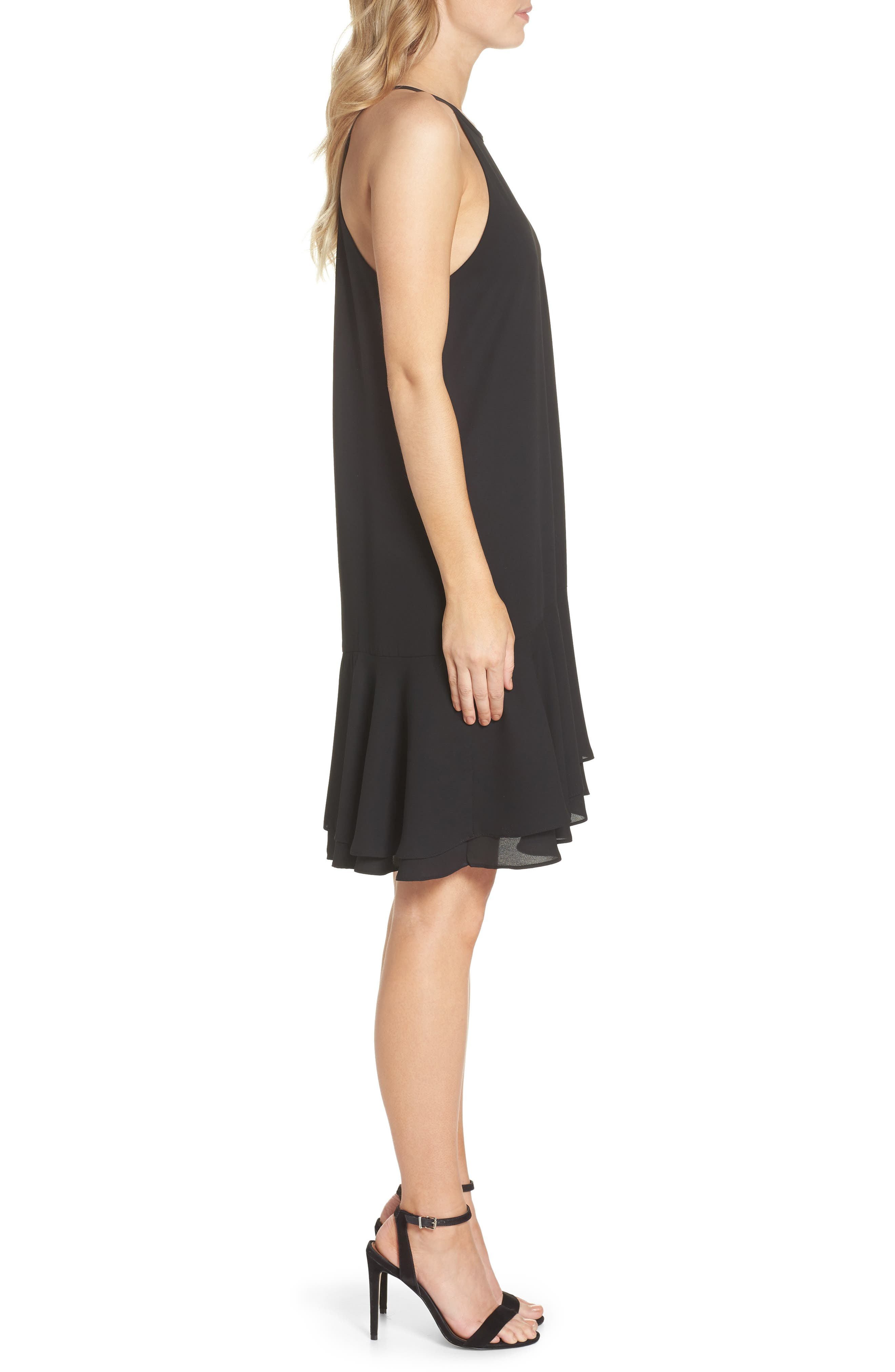 Tiered Shift Dress,                             Alternate thumbnail 3, color,                             001