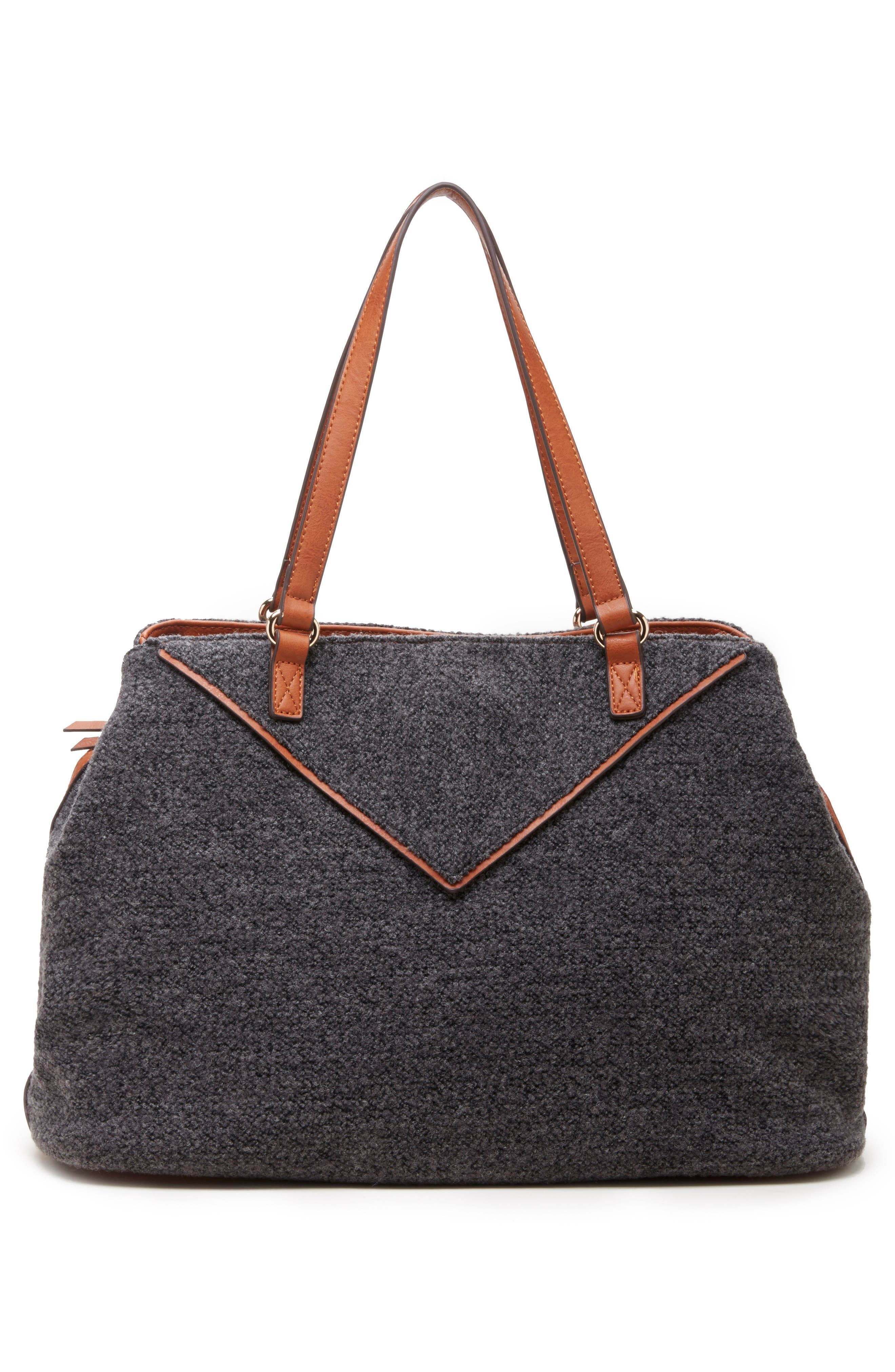 Ginny Woven Tote,                             Alternate thumbnail 2, color,                             GREY FLANNEL