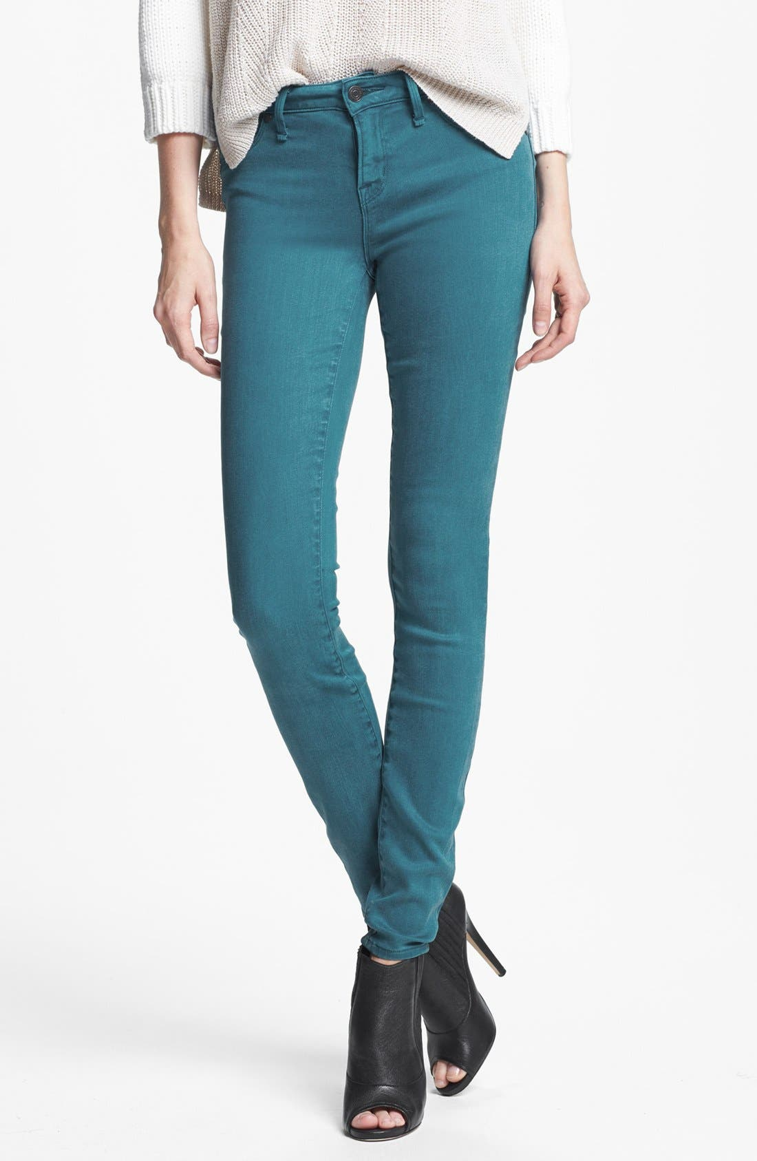 'Stick' Colored Skinny Stretch Jeans,                             Main thumbnail 1, color,                             493