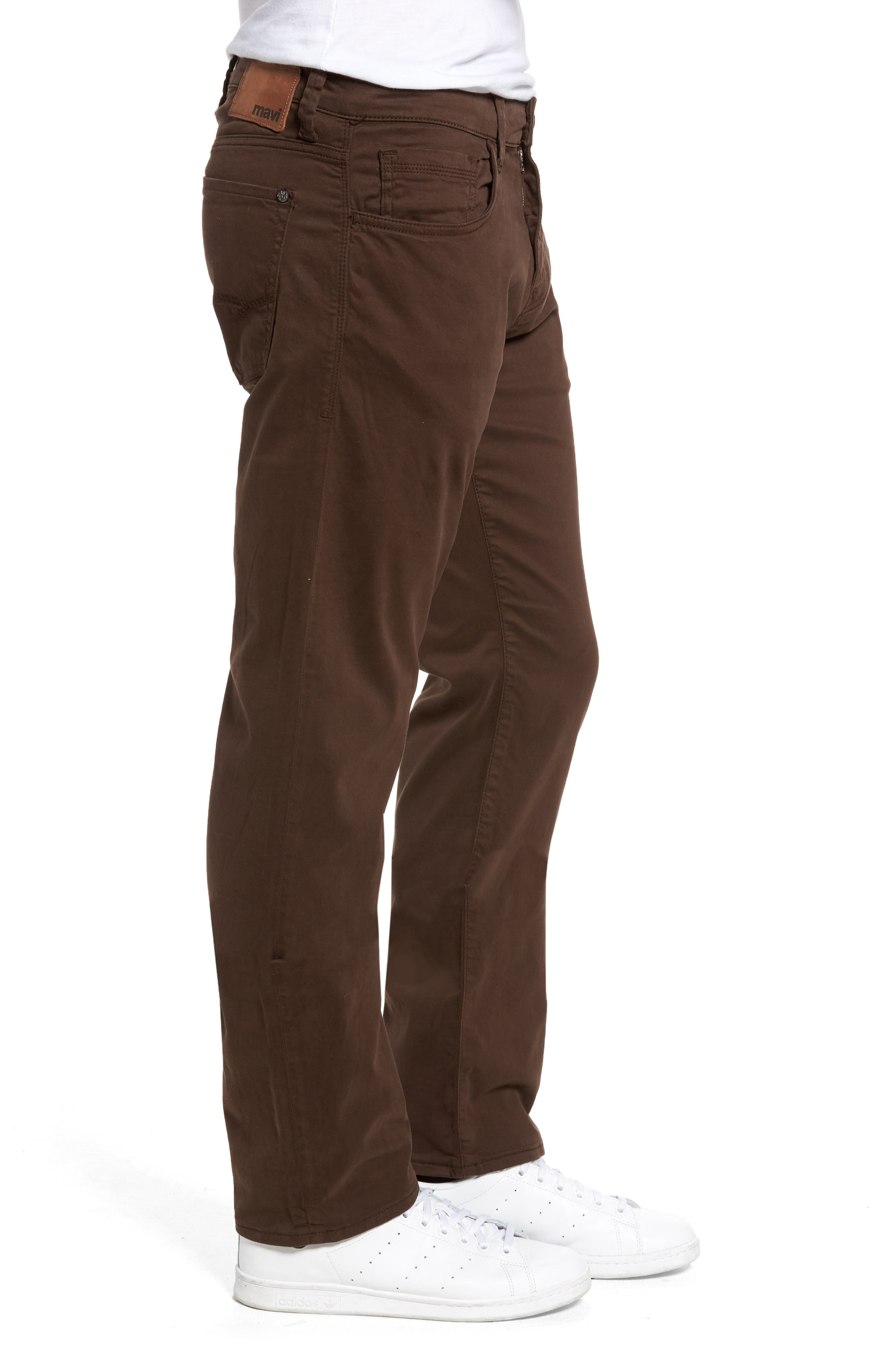 Zach Straight Fit Twill Pants,                             Alternate thumbnail 3, color,                             COFFEE BEAN TWILL