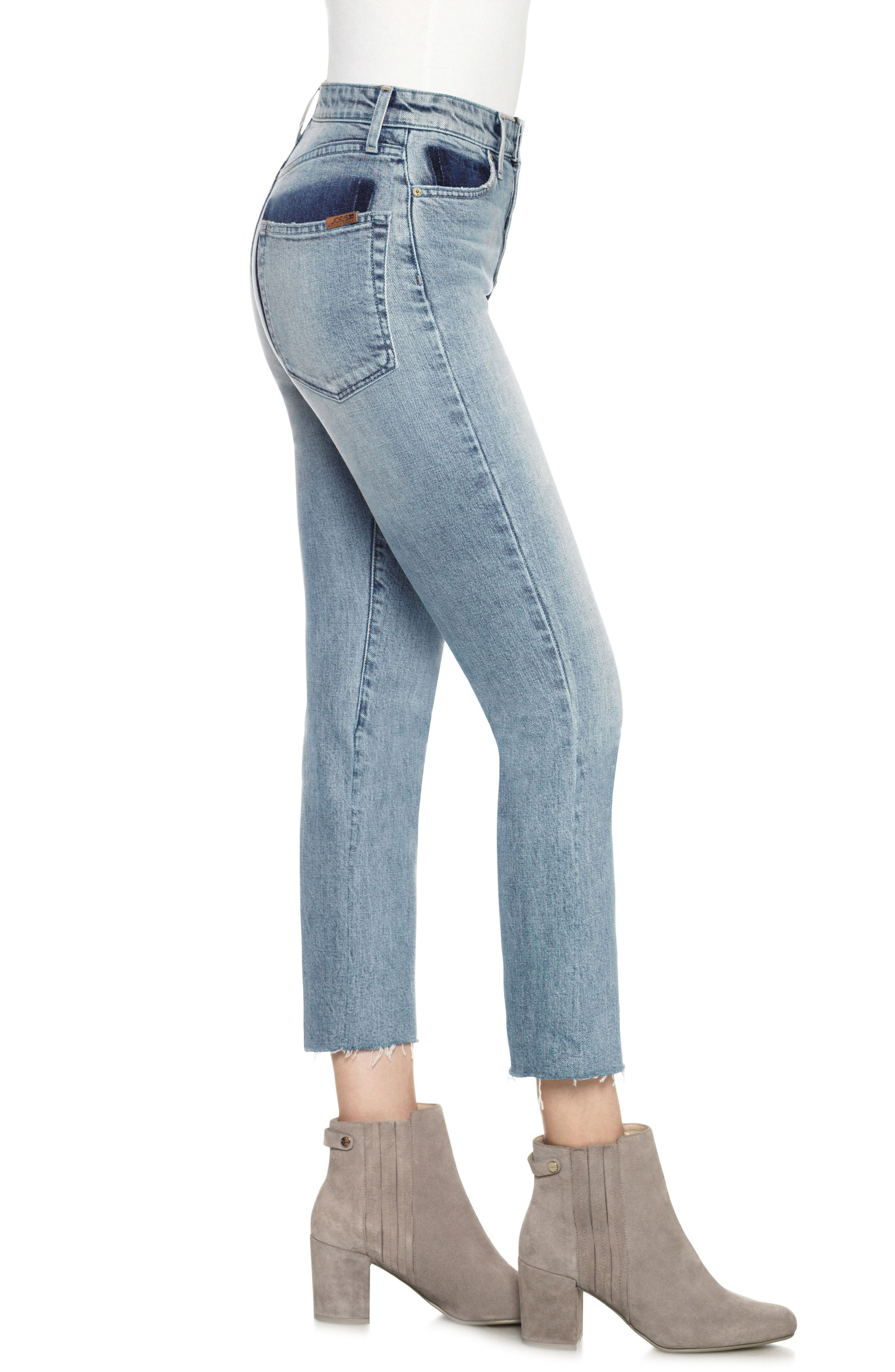 Debbie High Waist Crop Boyfriend Jeans,                             Alternate thumbnail 3, color,                             411