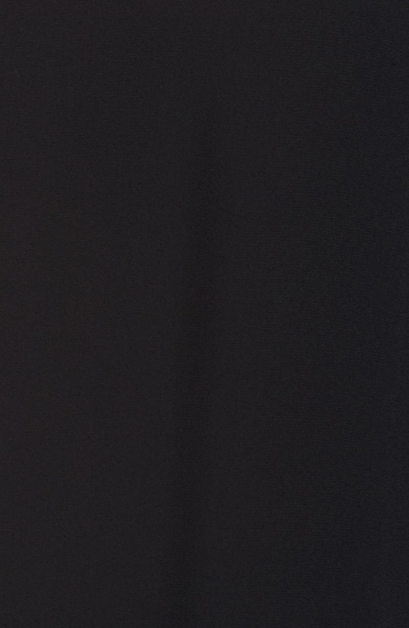 Split Neck Ruffle Sleeve Tunic,                             Alternate thumbnail 5, color,                             001