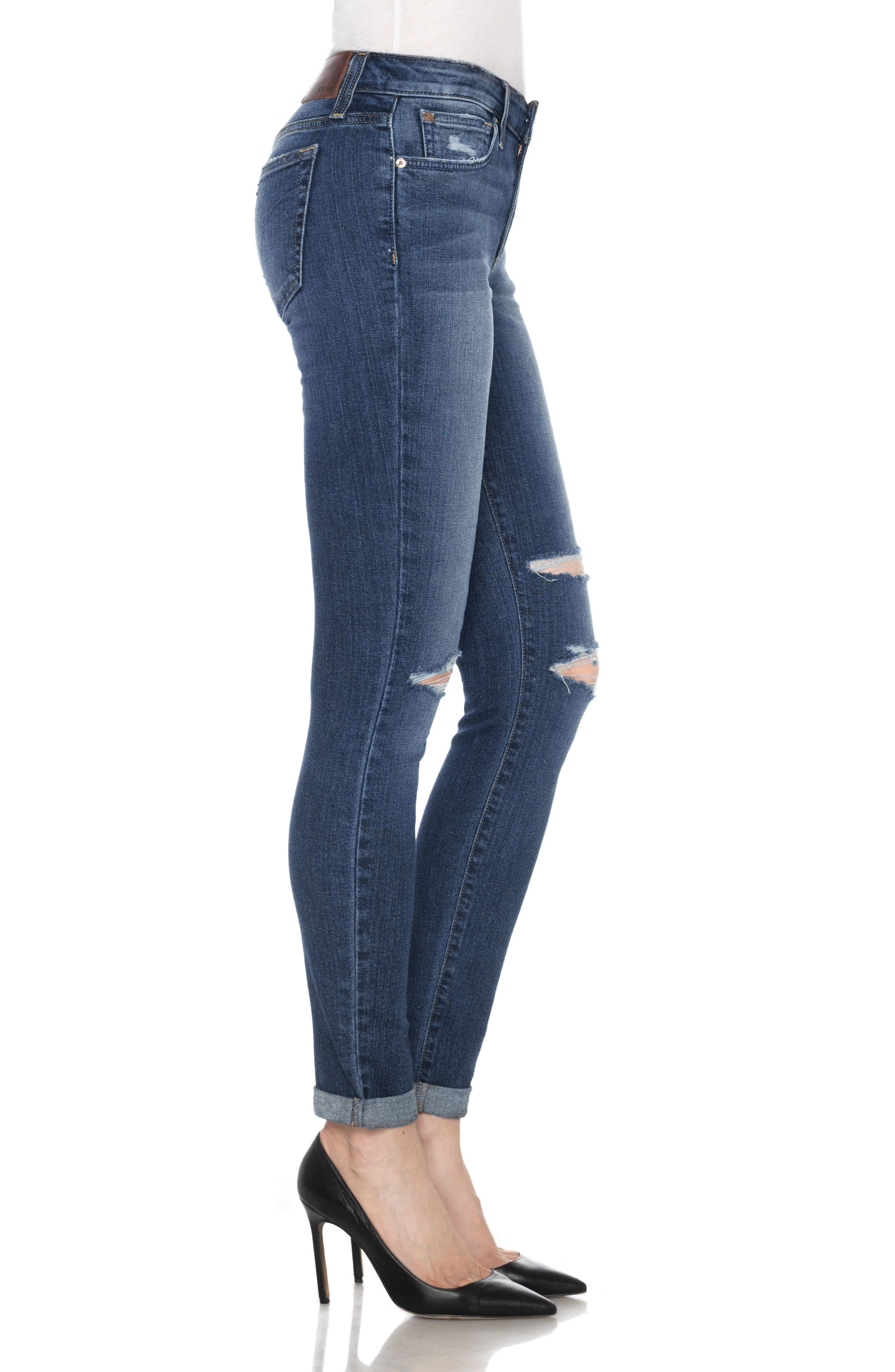 Icon Ankle Skinny Jeans,                             Alternate thumbnail 3, color,                             ADDISON
