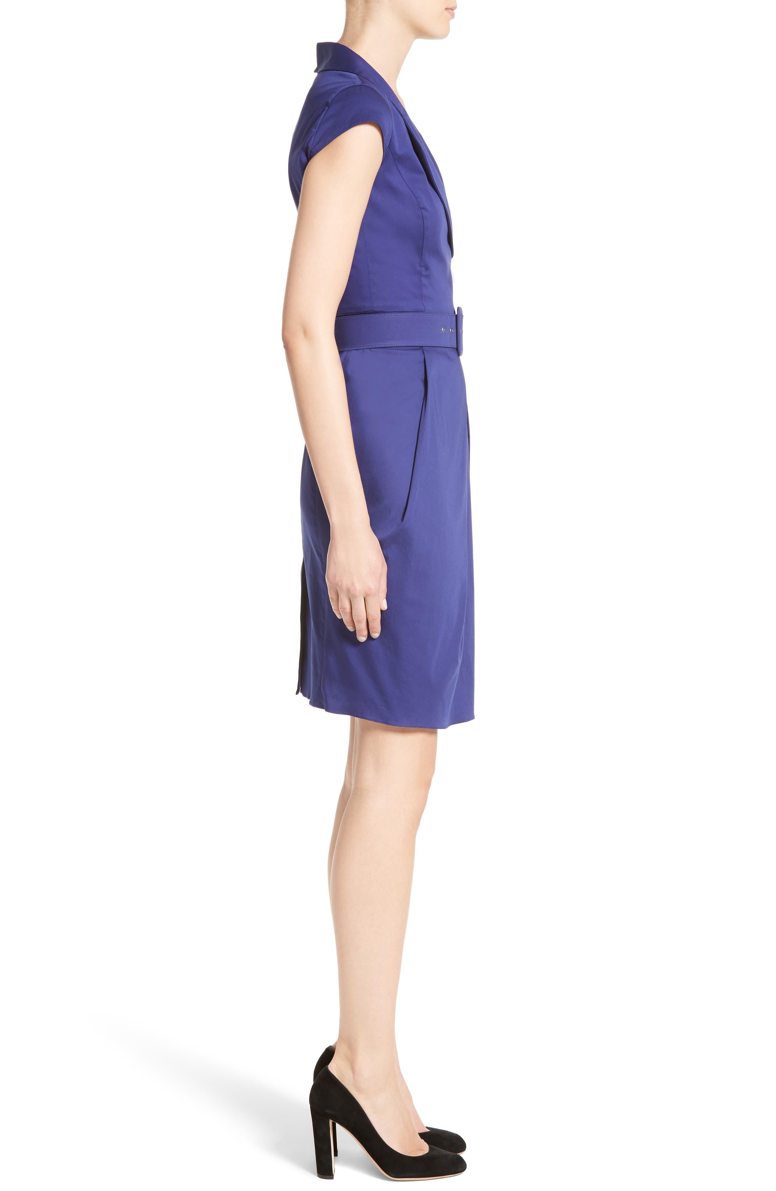 Belted Sheath Dress,                             Alternate thumbnail 3, color,