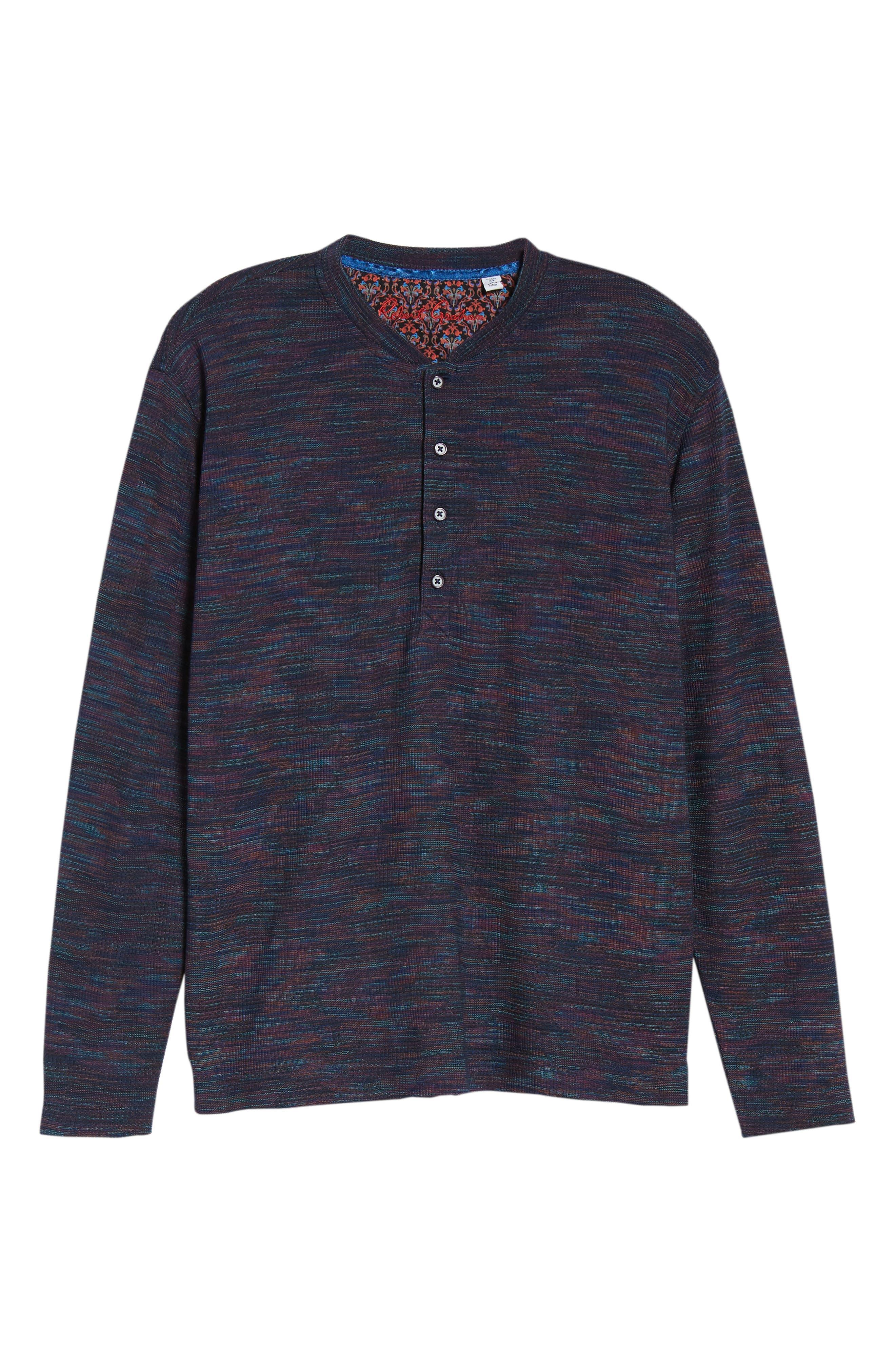 Forster Long Sleeve Henley Shirt,                             Alternate thumbnail 6, color,                             NAVY