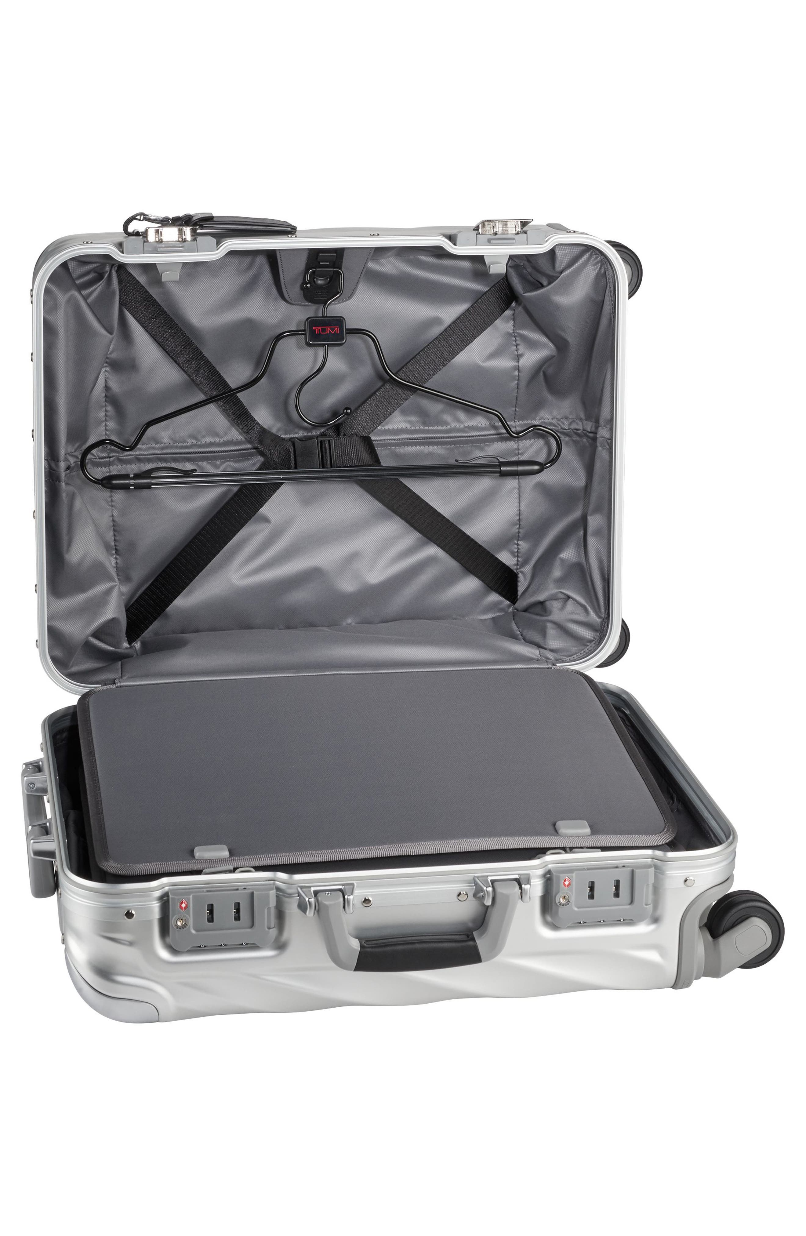 19 Degree 22-Inch Continental Wheeled Aluminum Carry-On,                             Alternate thumbnail 2, color,                             SILVER