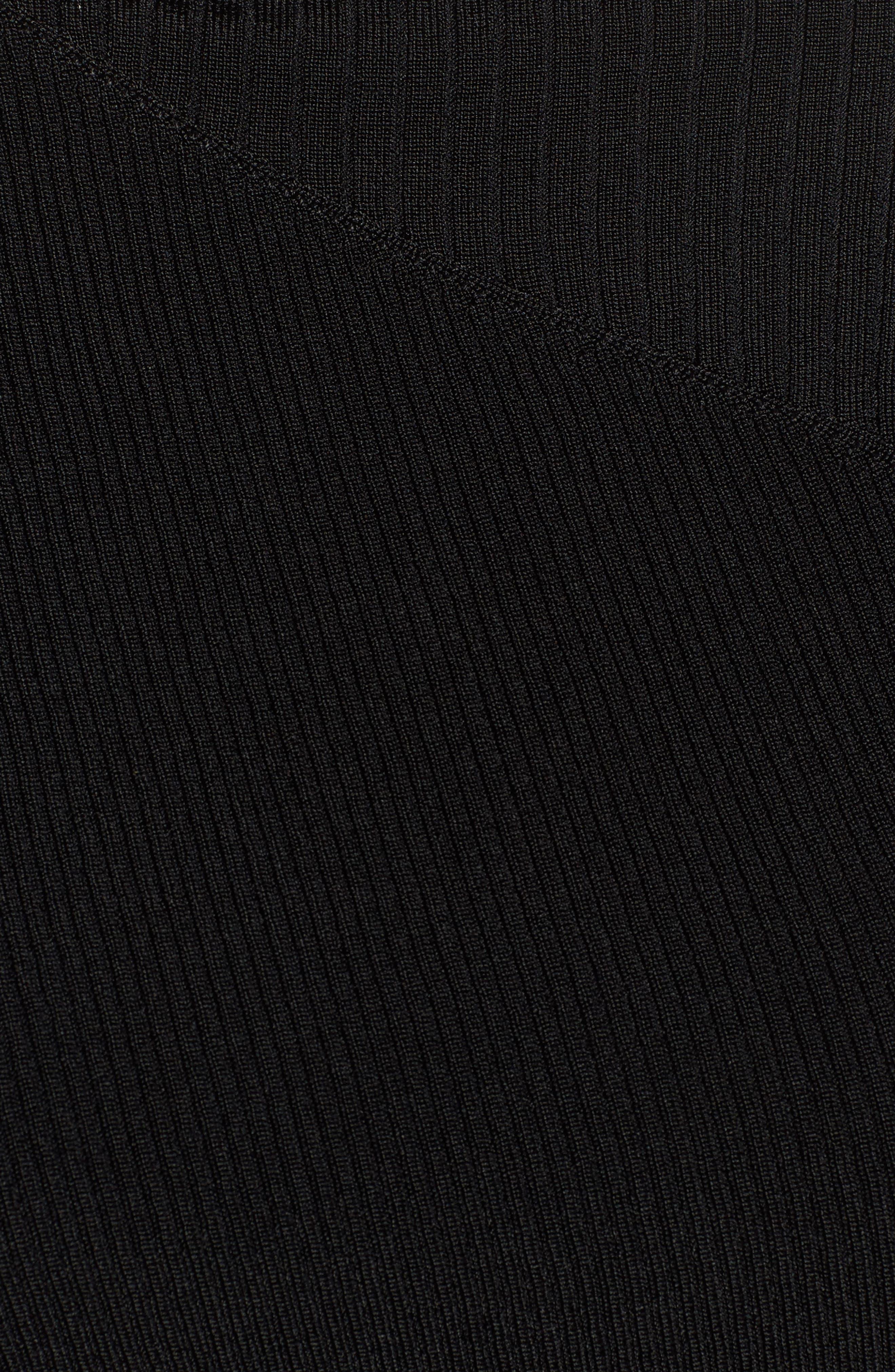Slash Neck Asymmetrical Top,                             Alternate thumbnail 5, color,                             001