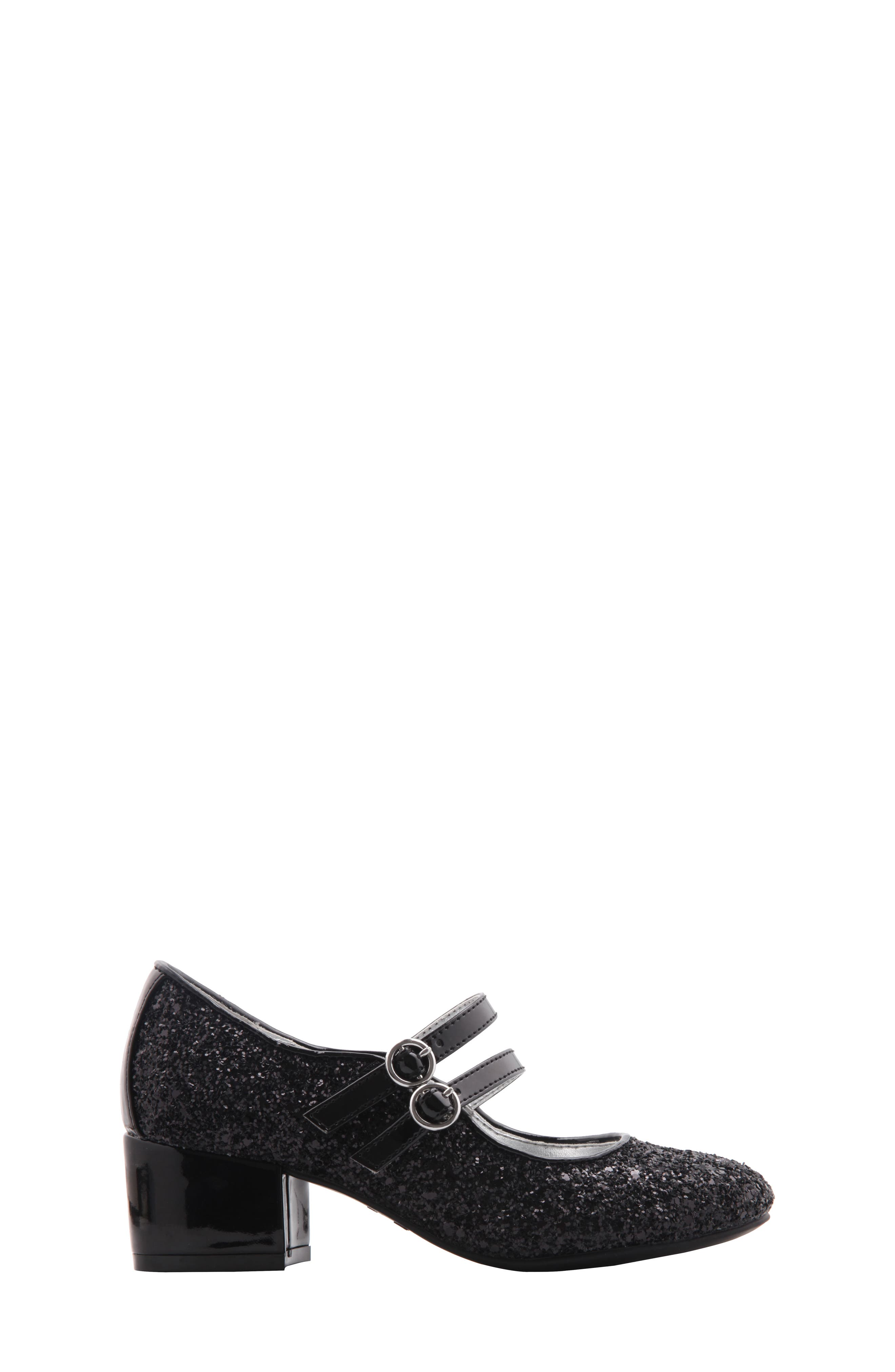 Sophie Glittery Double Strap Mary Jane,                             Alternate thumbnail 3, color,                             009