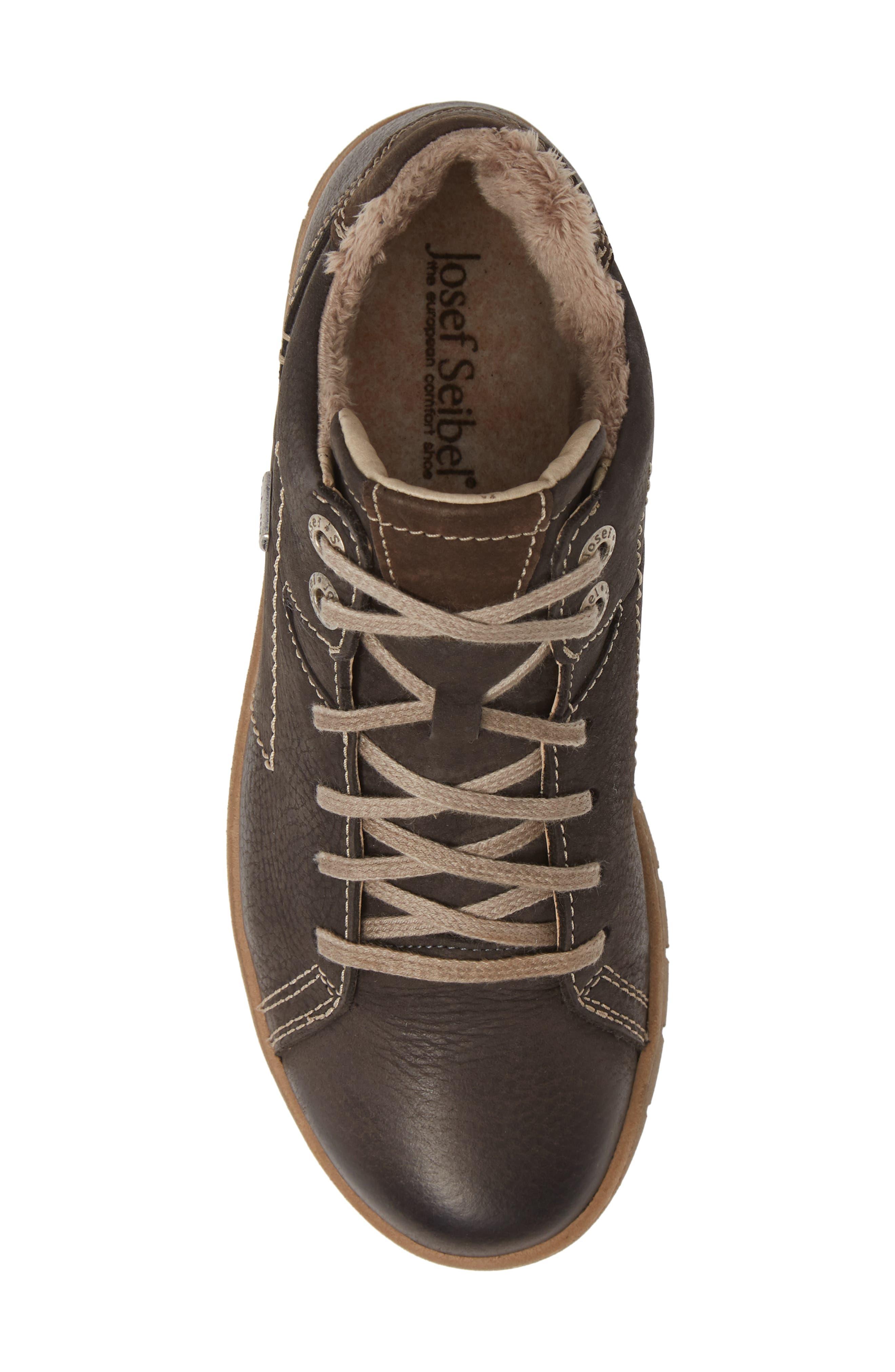 Steffi 58 Sneaker Bootie,                             Alternate thumbnail 5, color,                             TITAN LEATHER