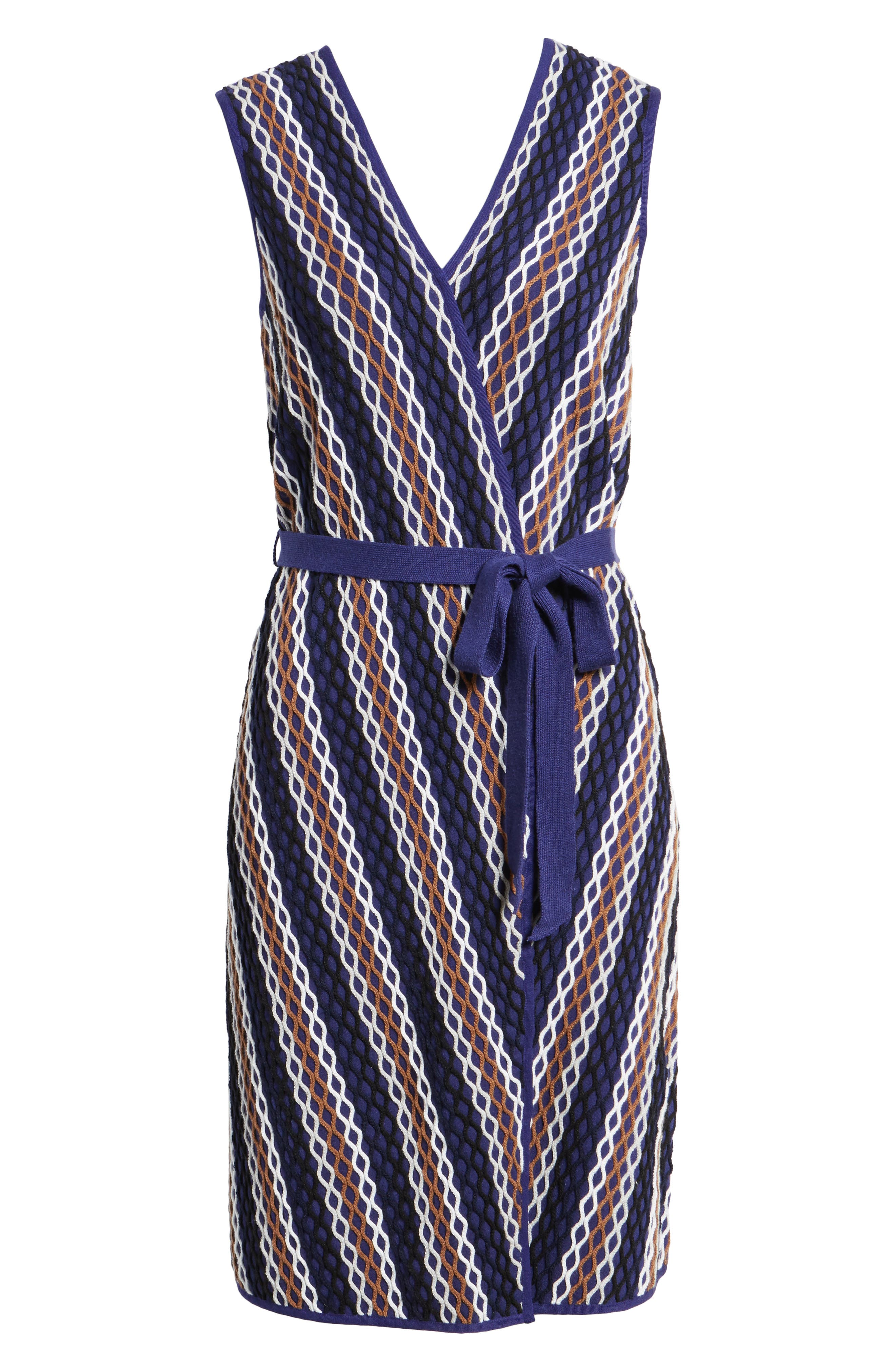 Squiggled Up Faux Wrap Dress,                             Alternate thumbnail 6, color,                             490