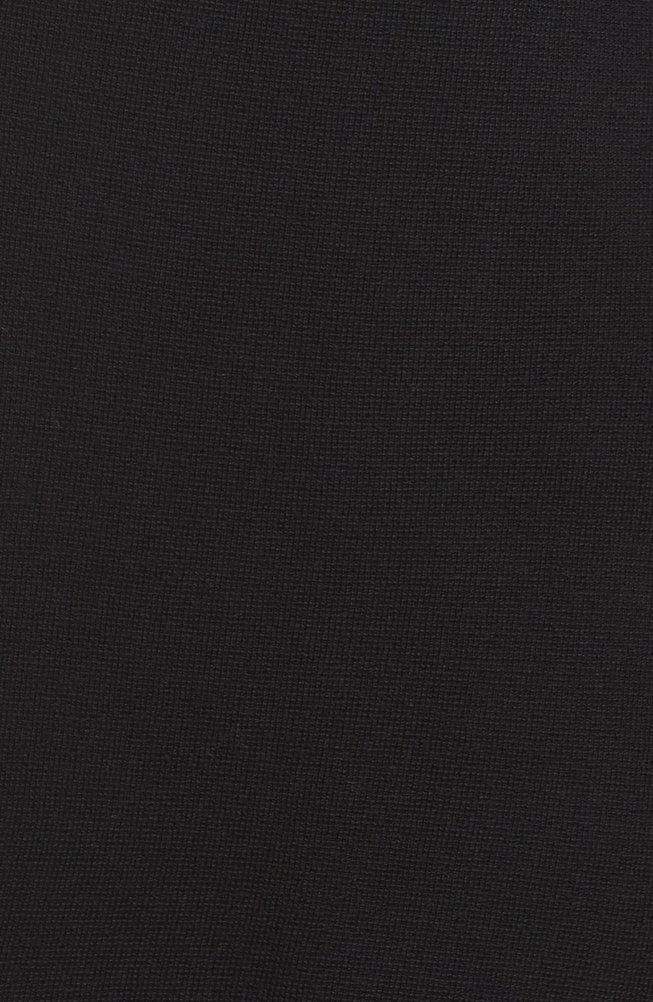Mandarin Collar Merino Cardigan,                             Alternate thumbnail 5, color,                             001