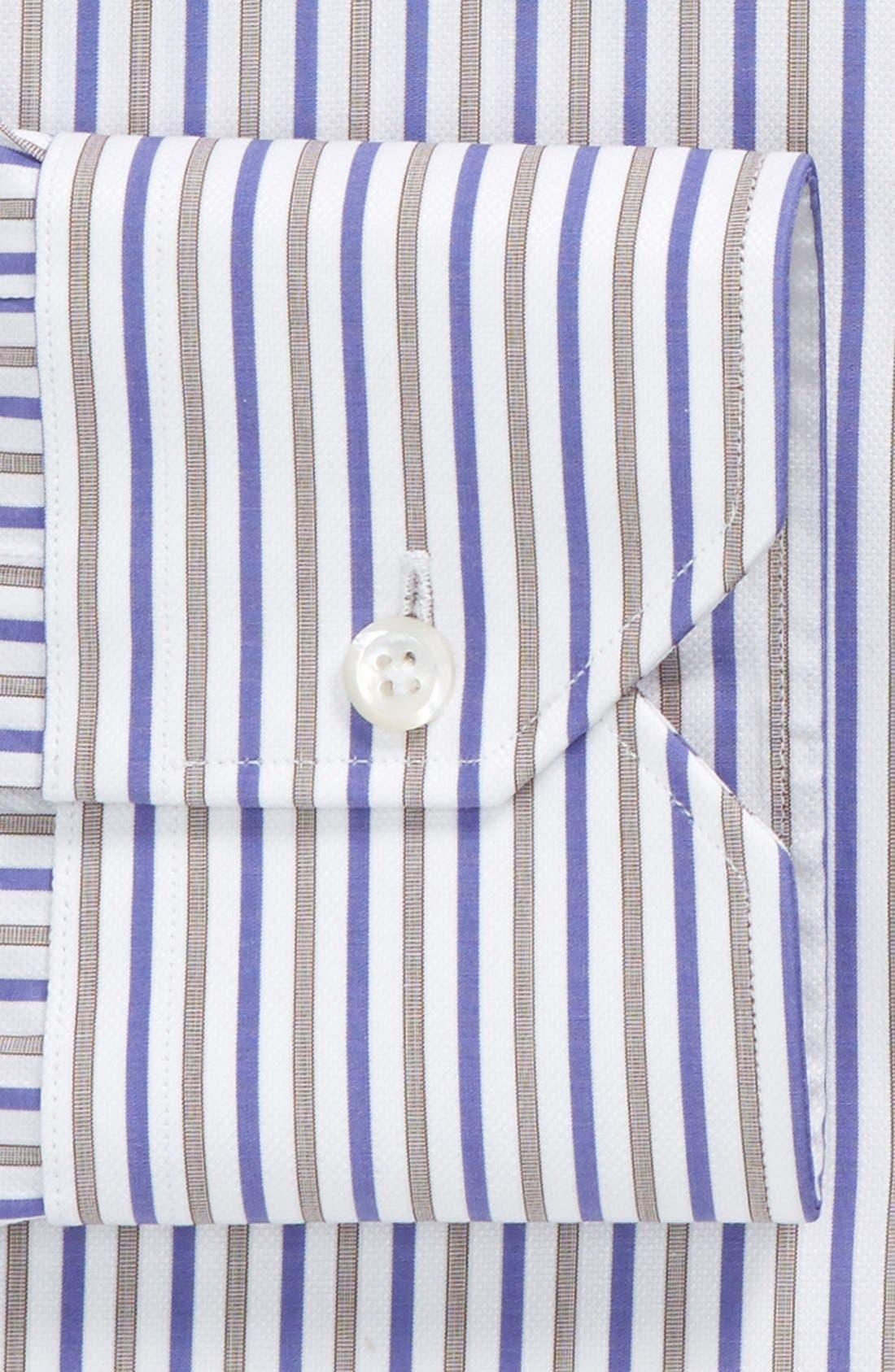Traditional Fit Stripe Dress Shirt,                             Alternate thumbnail 2, color,                             450