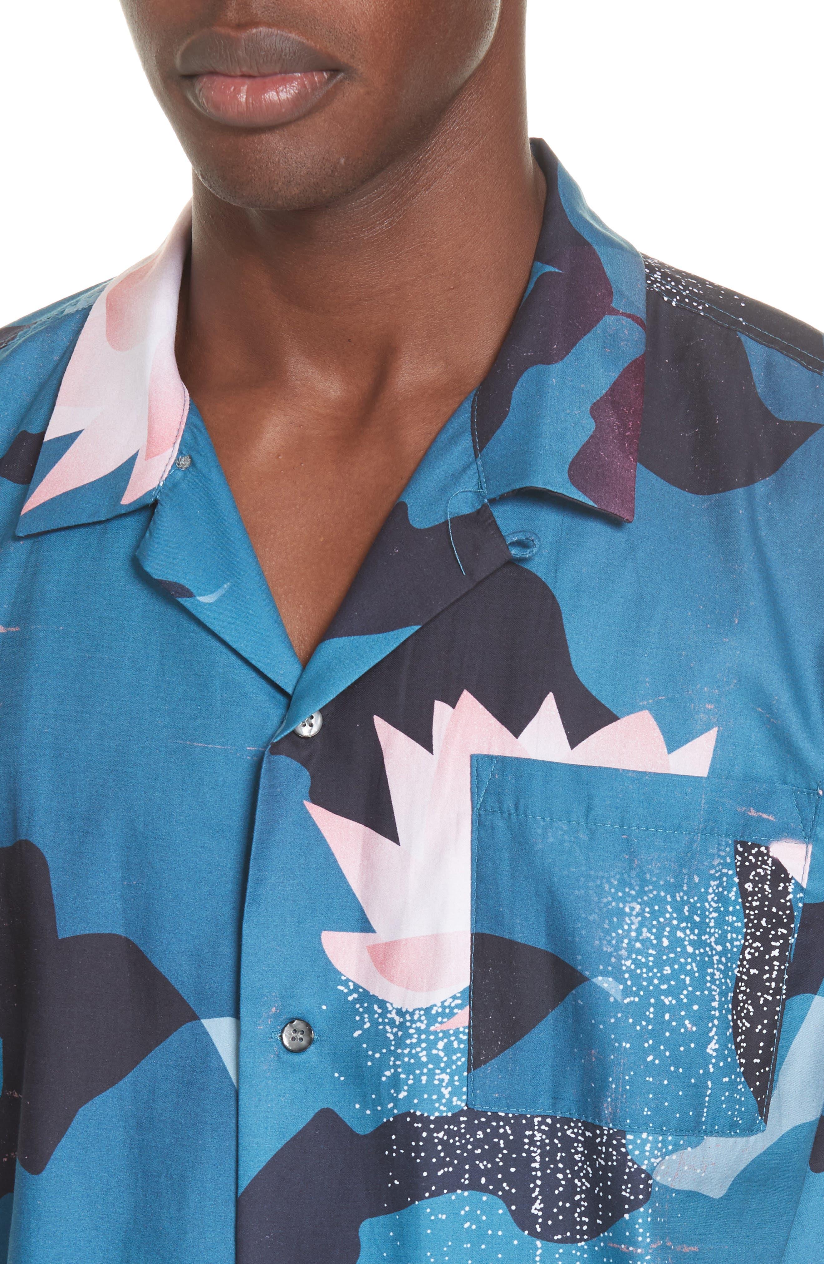 Kyoto Song Camp Shirt,                             Alternate thumbnail 2, color,                             BLUE