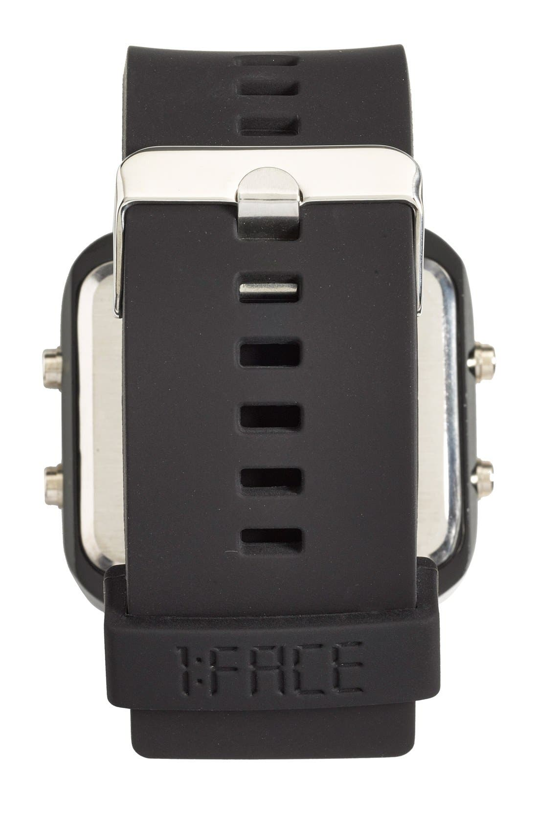 1:FACE,                             'Cancer' Square Digital Silicone Strap Watch, 38mm,                             Alternate thumbnail 2, color,                             001