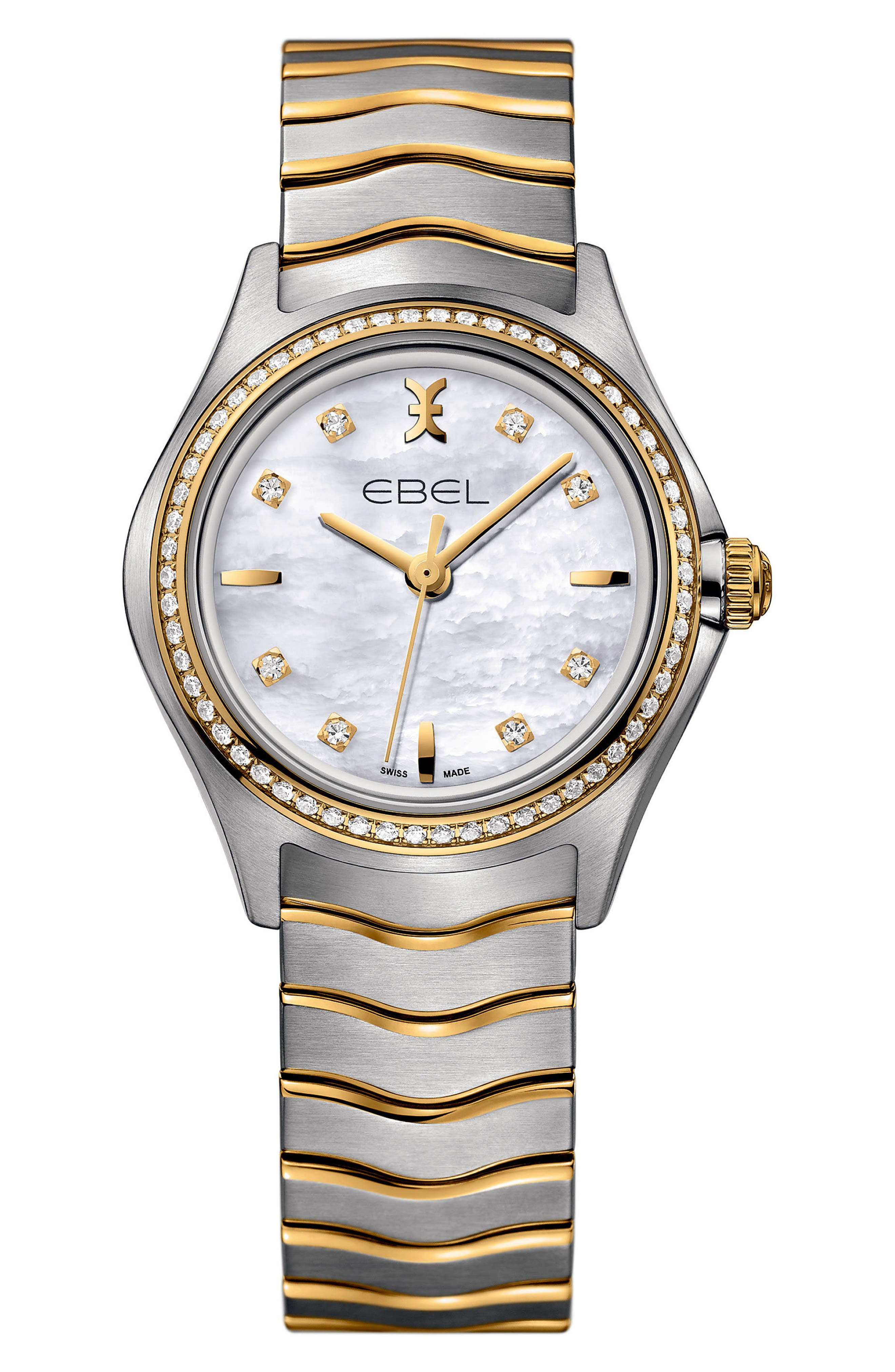Wave Bracelet Watch, 30mm,                         Main,                         color, SILVER/ GOLD