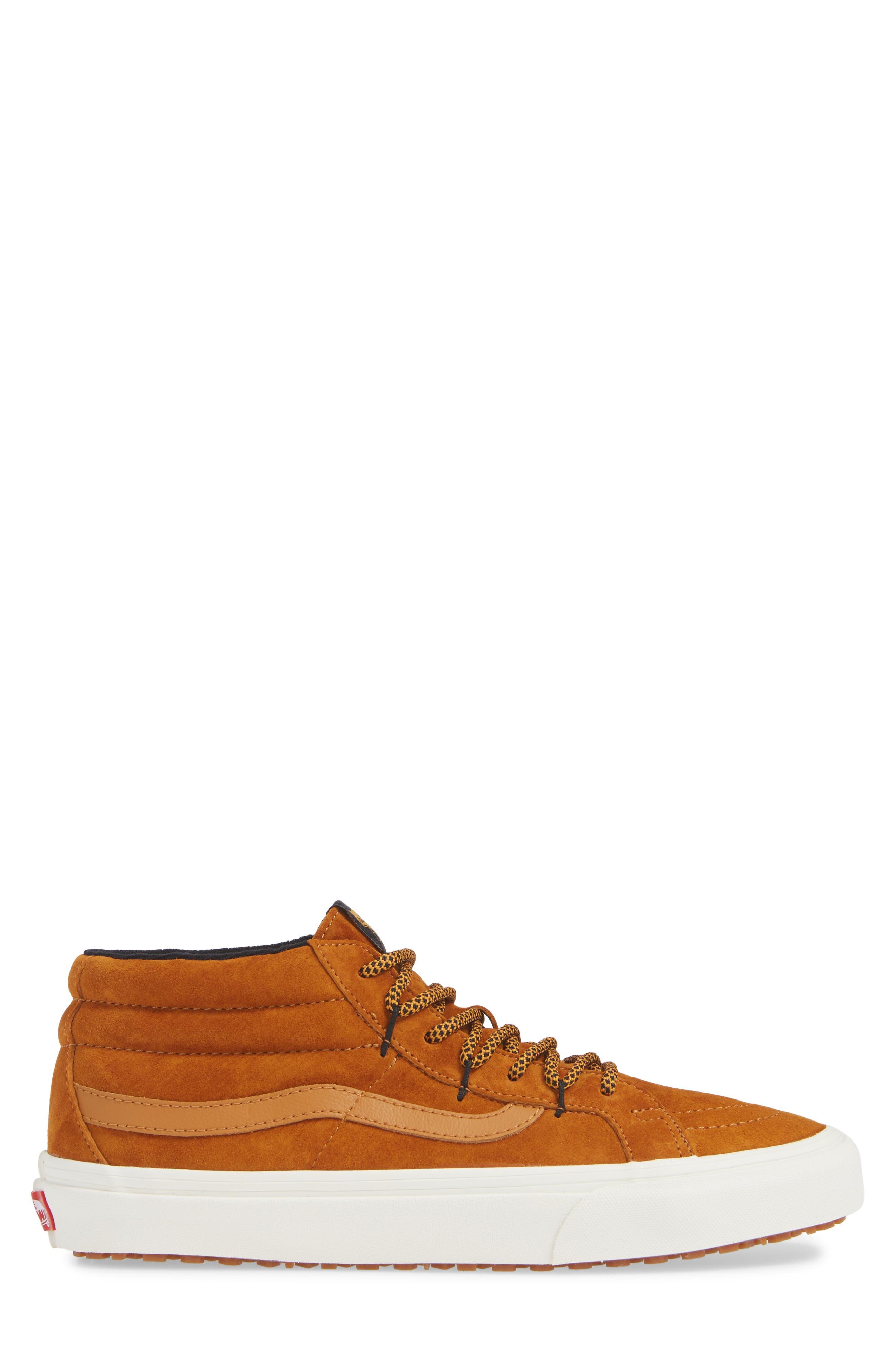 SK8-Hi Mid Reissue Ghillie MTE Sneaker,                             Alternate thumbnail 3, color,                             BROWN/ MARSHMALLOW
