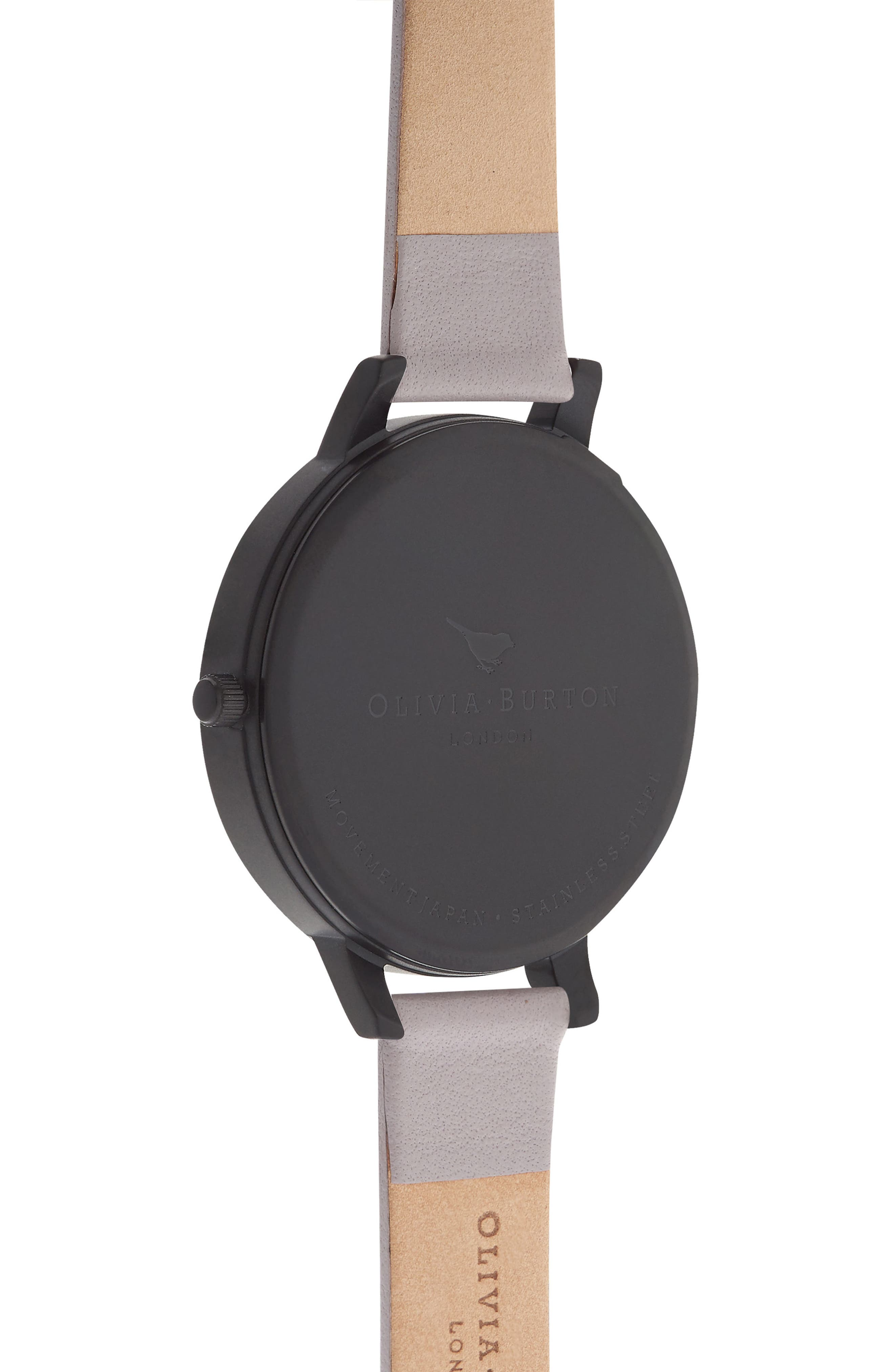After Dark Butterfly Leather Strap Watch, 38mm,                             Alternate thumbnail 4, color,