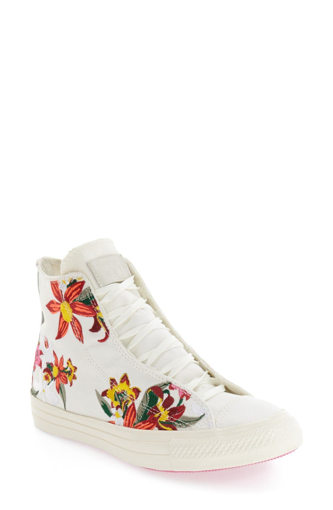 Chuck Taylor<sup>®</sup> All Star<sup>®</sup> 'Patbo' Floral High Top Sneaker, Main, color, 100