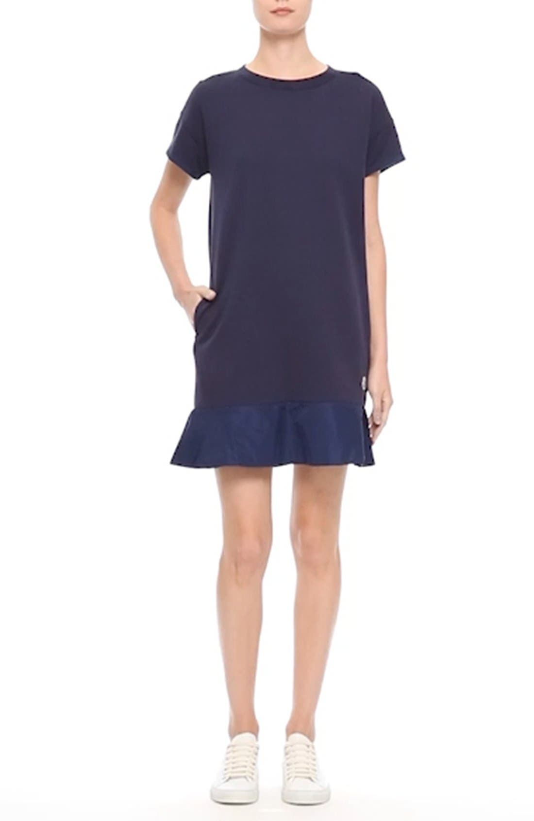 Abito Ruffle Sweatshirt Dress,                             Alternate thumbnail 7, color,                             420