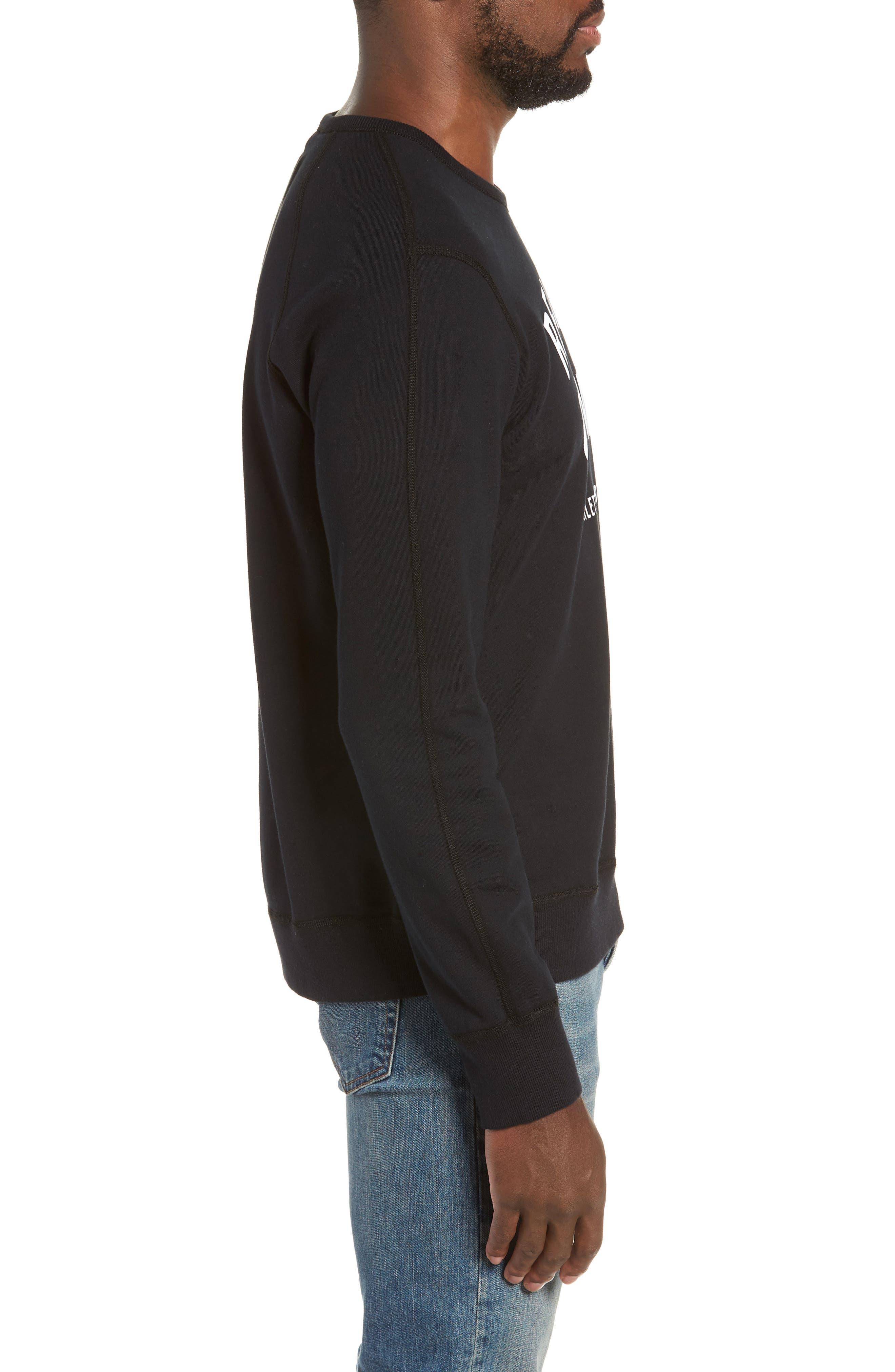 Gym Logo Sweatshirt,                             Alternate thumbnail 3, color,                             BLACK/ WHITE