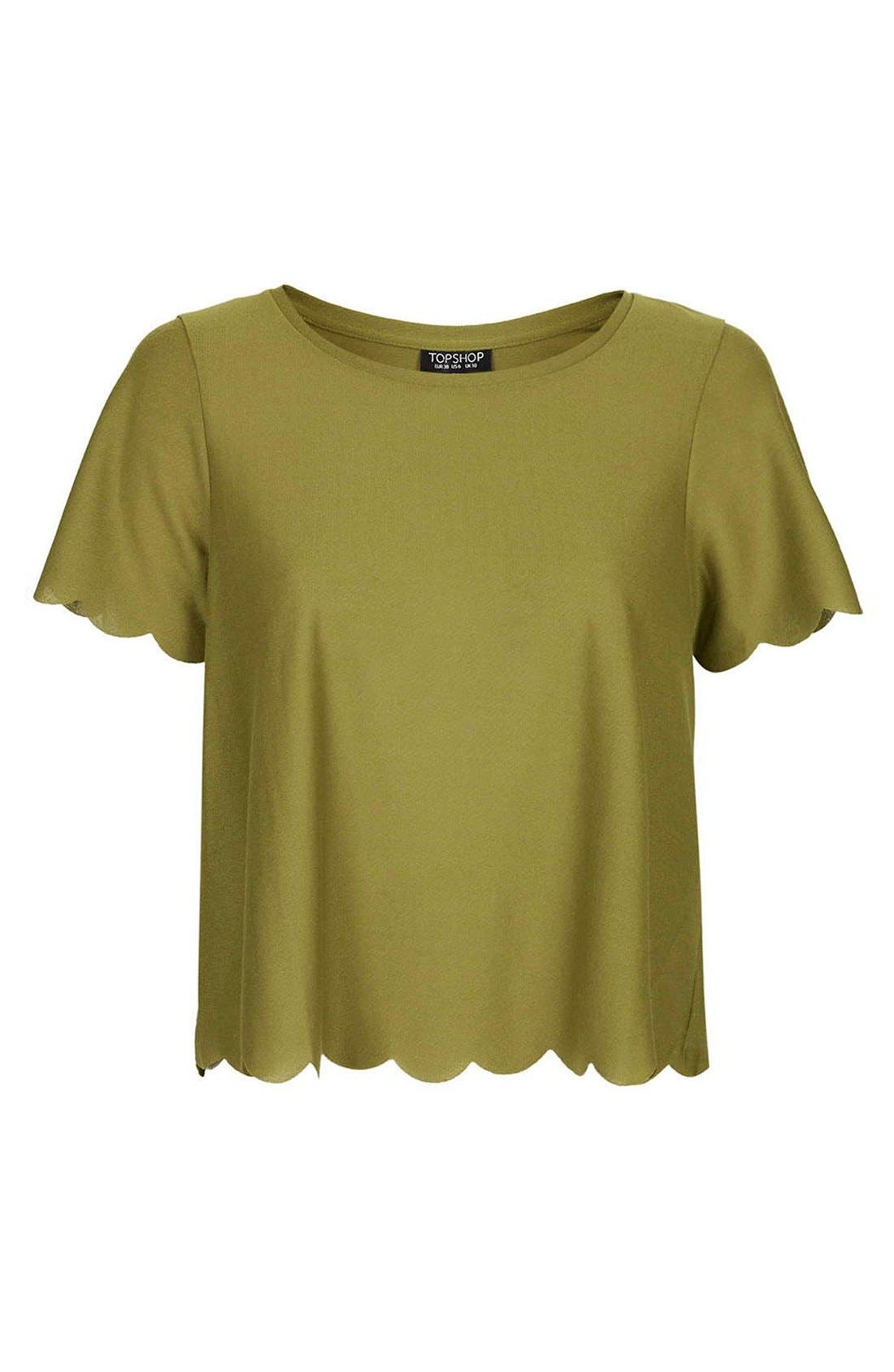 Scallop Frill Tee,                             Alternate thumbnail 47, color,